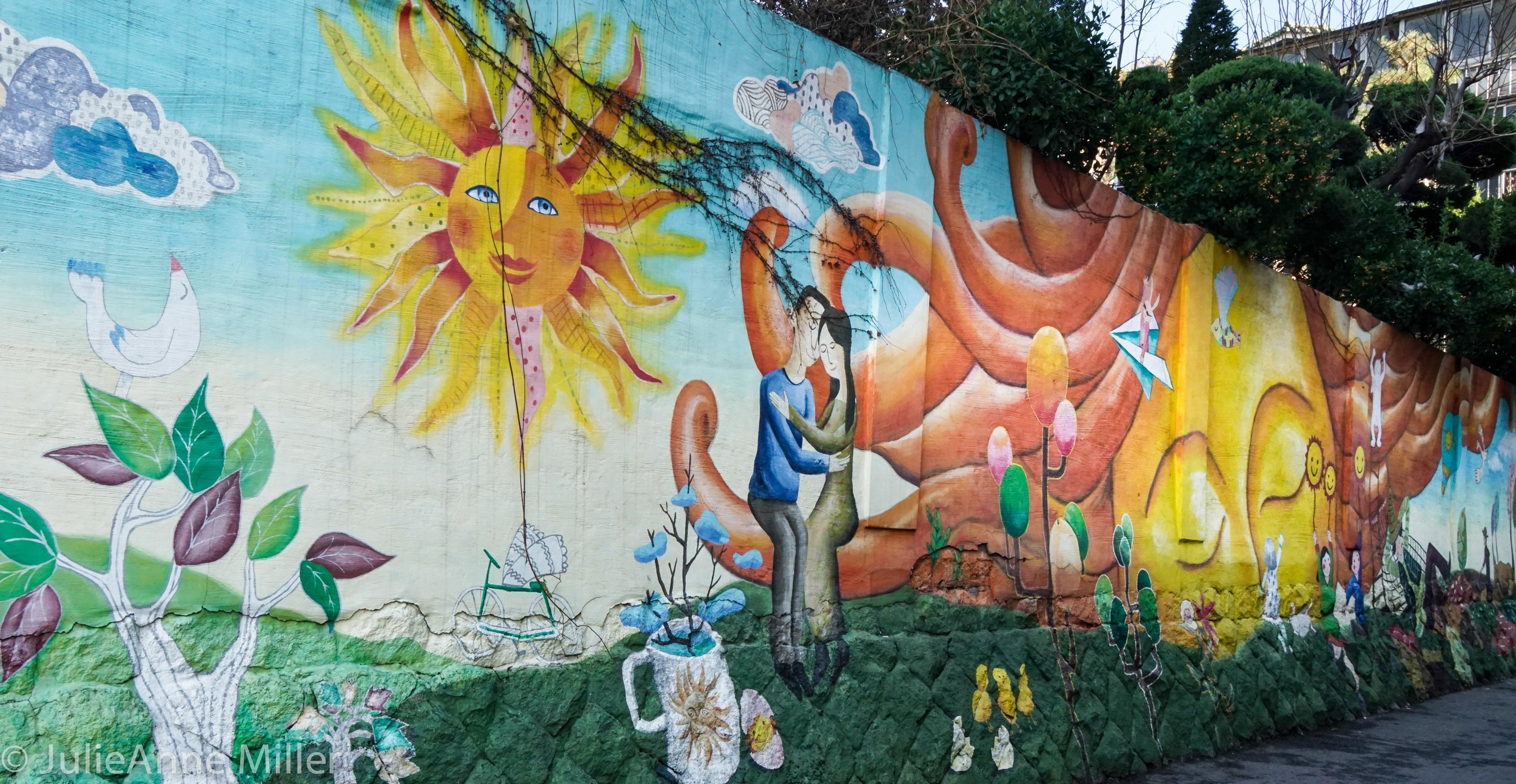 Local street art, Ihwa Mural Village, Seoul