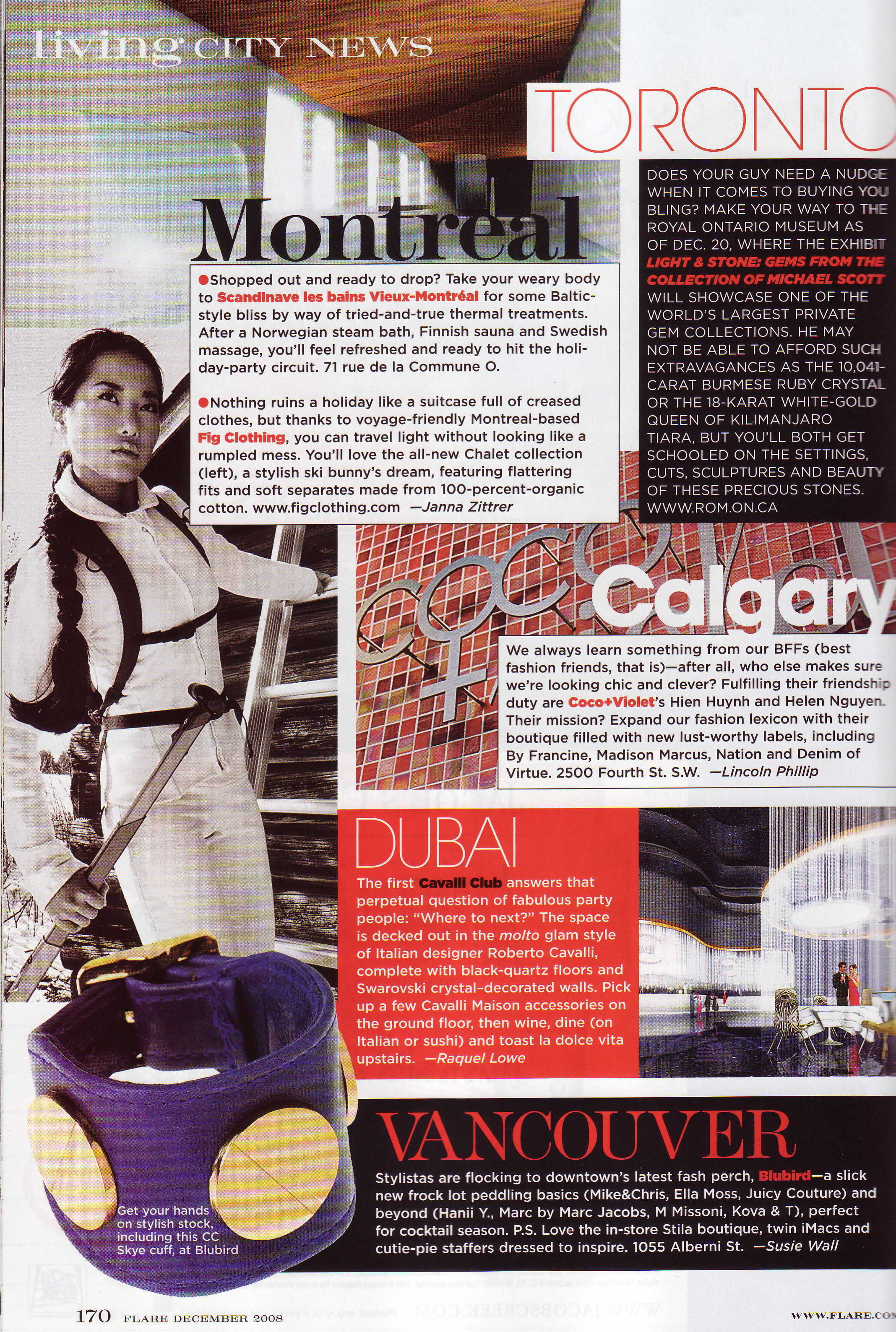 Coco And Violet's first Flare Magazine write up 1998.