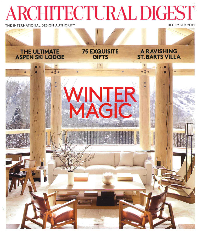 Architectural Digest, December 2011