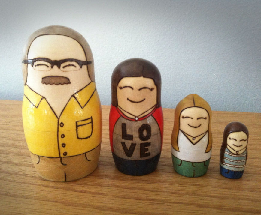 We carry templates of our caregivers and families inside ourselves, like these  family matryoshka  dolls.