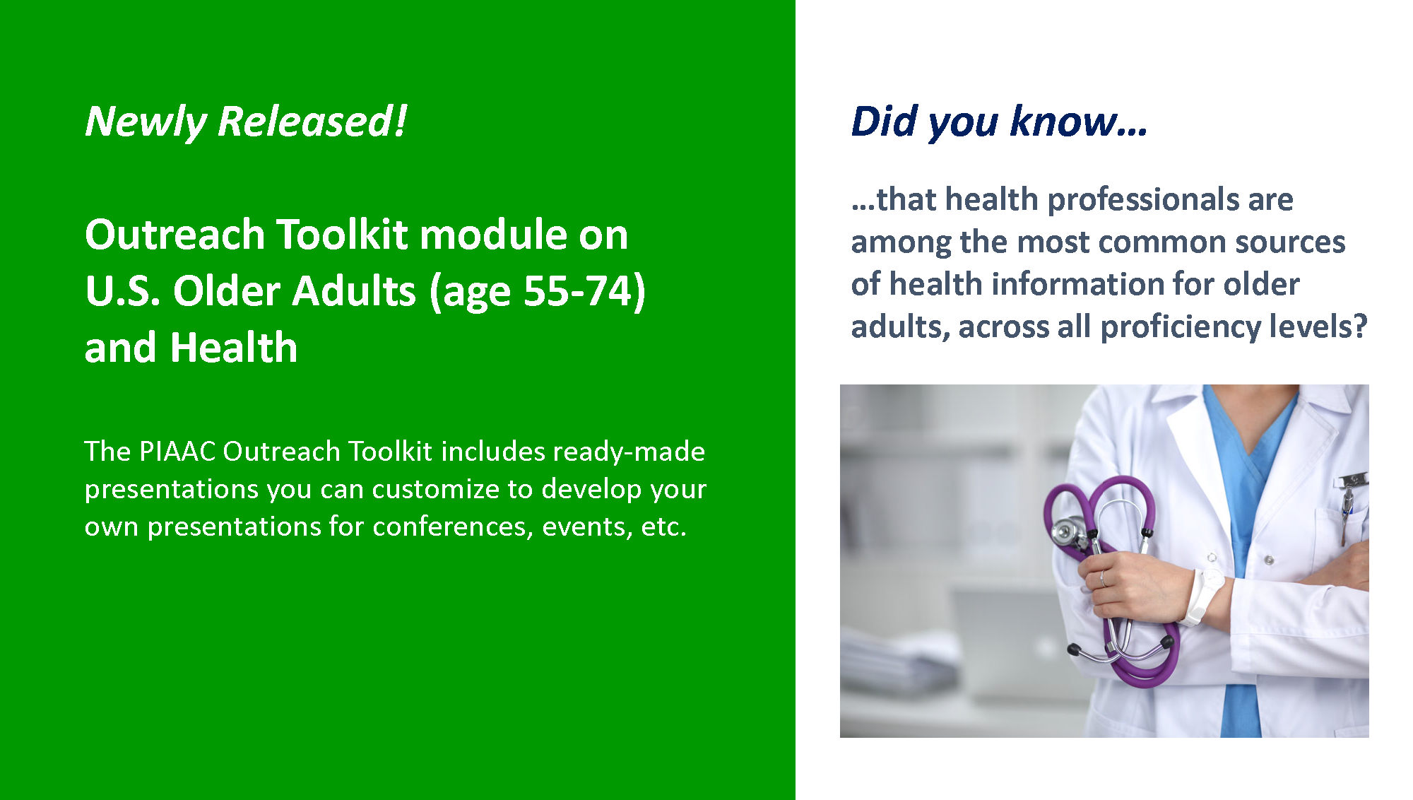 Outreach Toolkit on U.S. Older Adults and Health