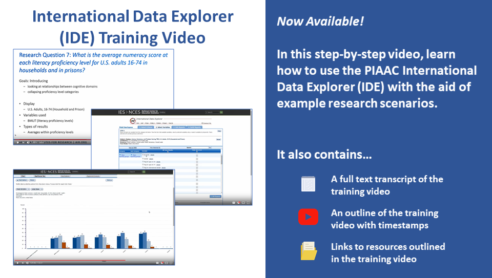 International Data Explorer (IDE) Training Video