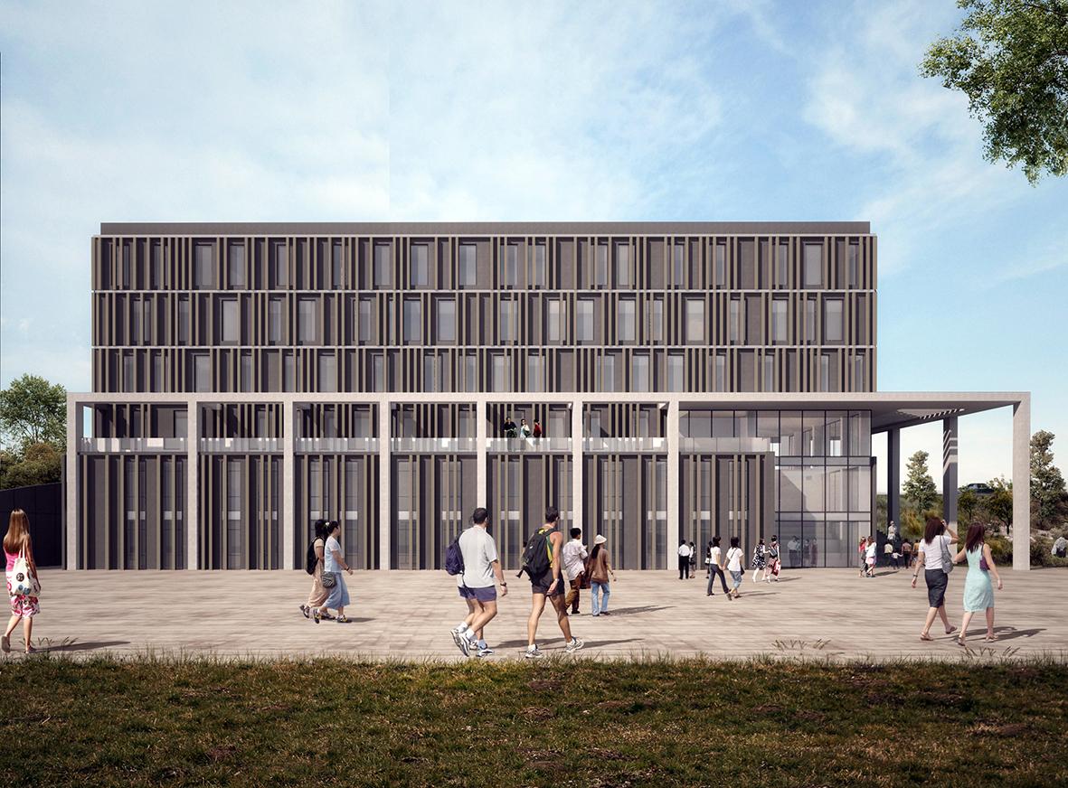 Öğrenci İşleri Binası Güney Cephesi Görünüşü