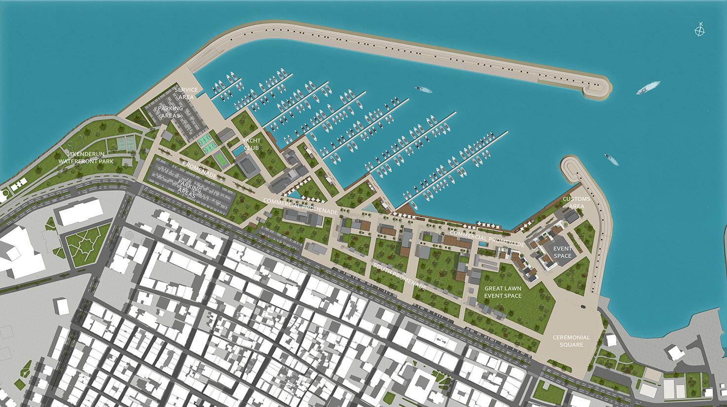 İskenderun Marina Vaziyet Planı