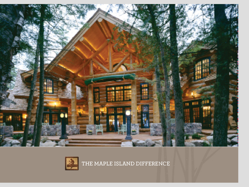Brochure for  Maple Island Log Homes