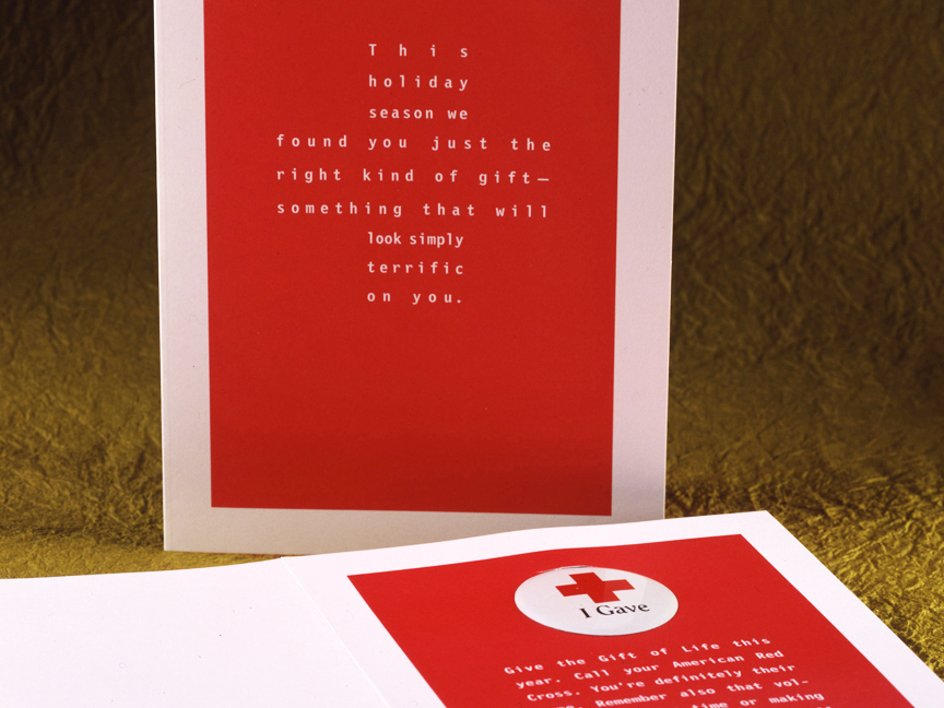 Advertising Agency holiday promotion to benefit The American Red Cross