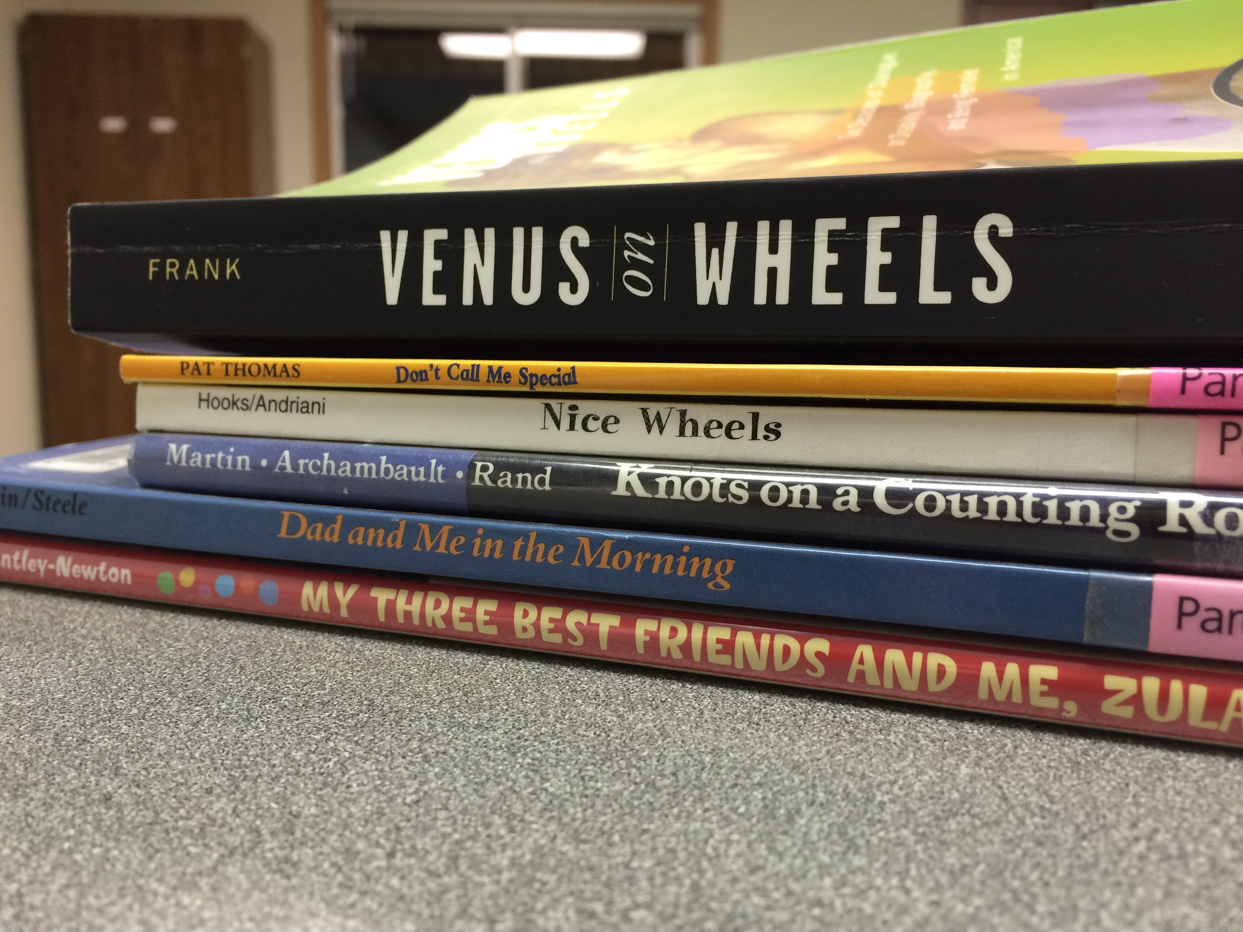 Reading children's books on disabilities in conjunction with Venus on Wheels . Medicine, Body, Culture. Spring 15.