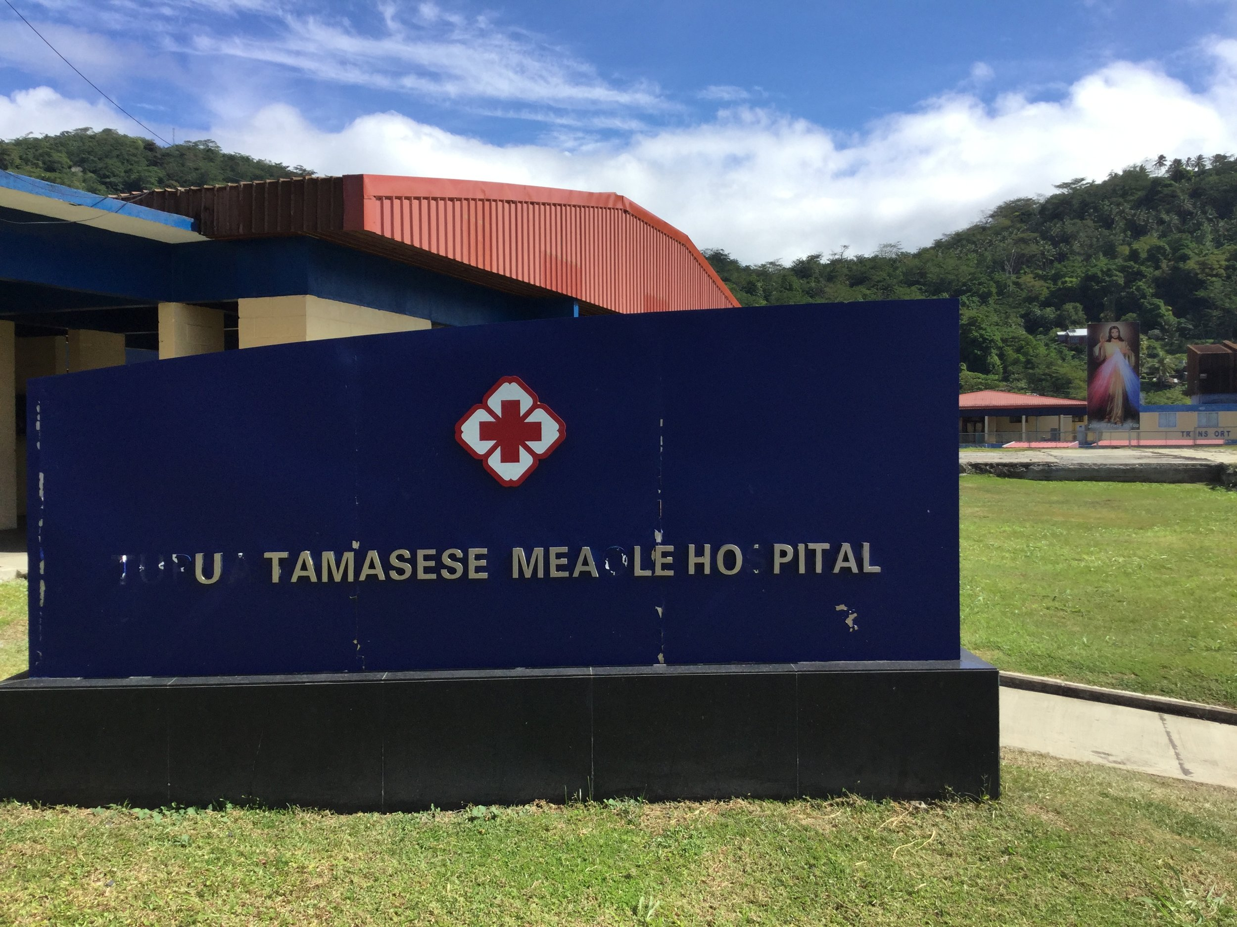 The original buildings of the Tupua Tamasese Meaole Hospital. Moto'otua, 2017.