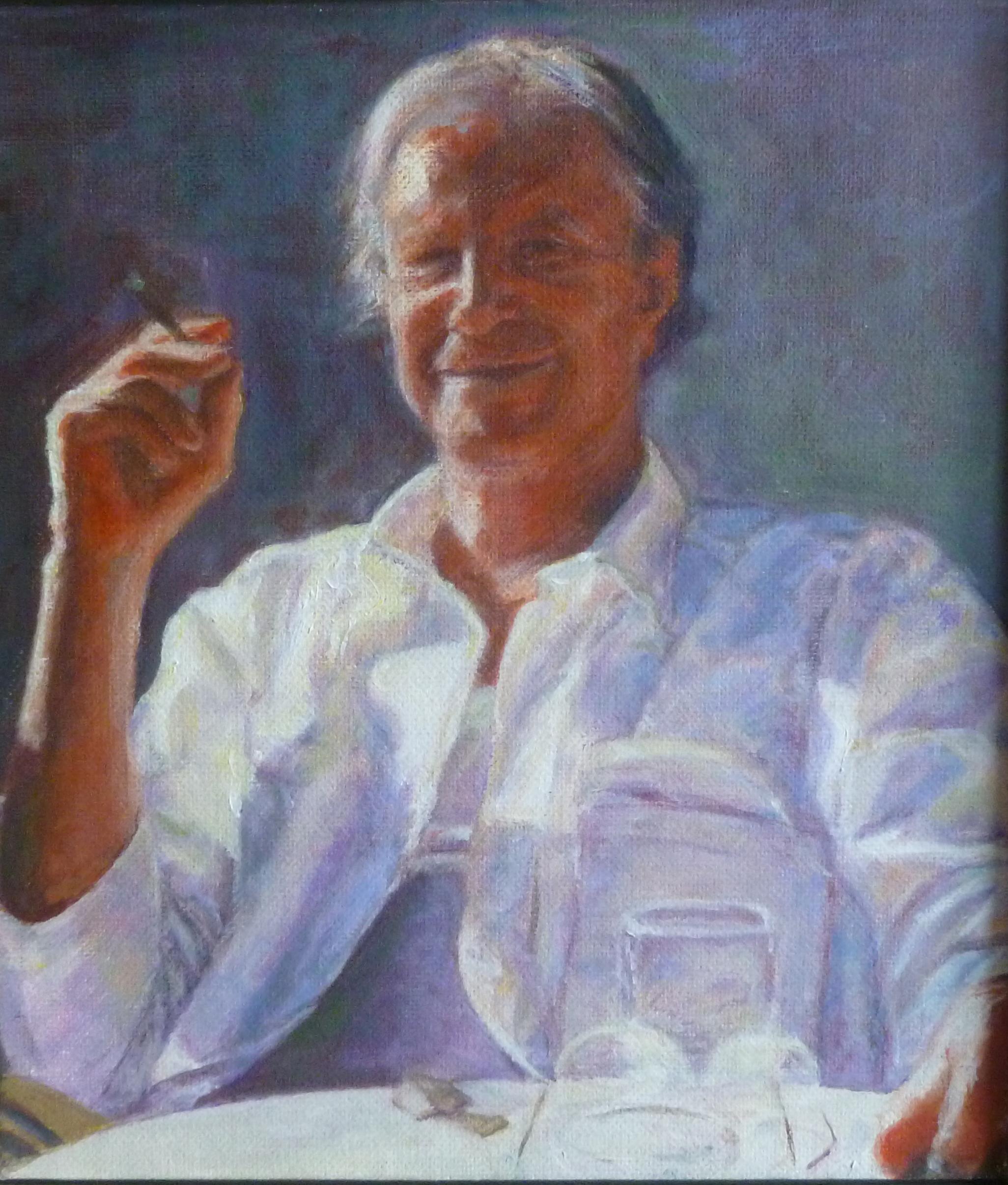 """Jean  Oil paint on canvas board  8x10"""""""
