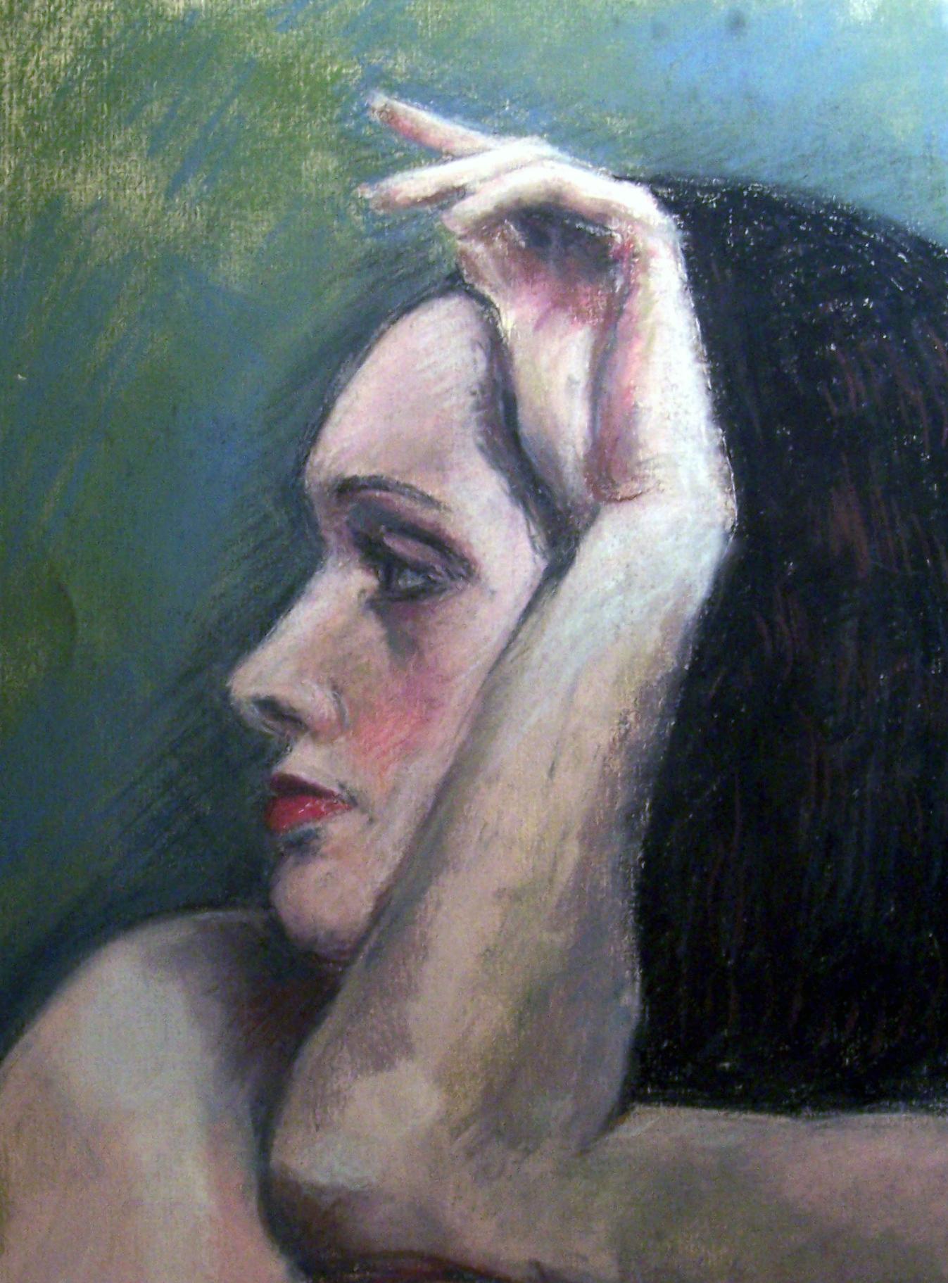 "Angelina  Pastel on paper 11x14"""