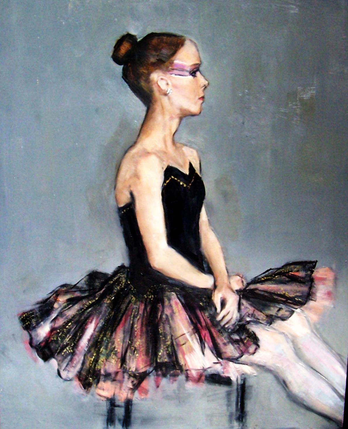 """Ballerina  Oil paint on Masonite 16x20"""""""