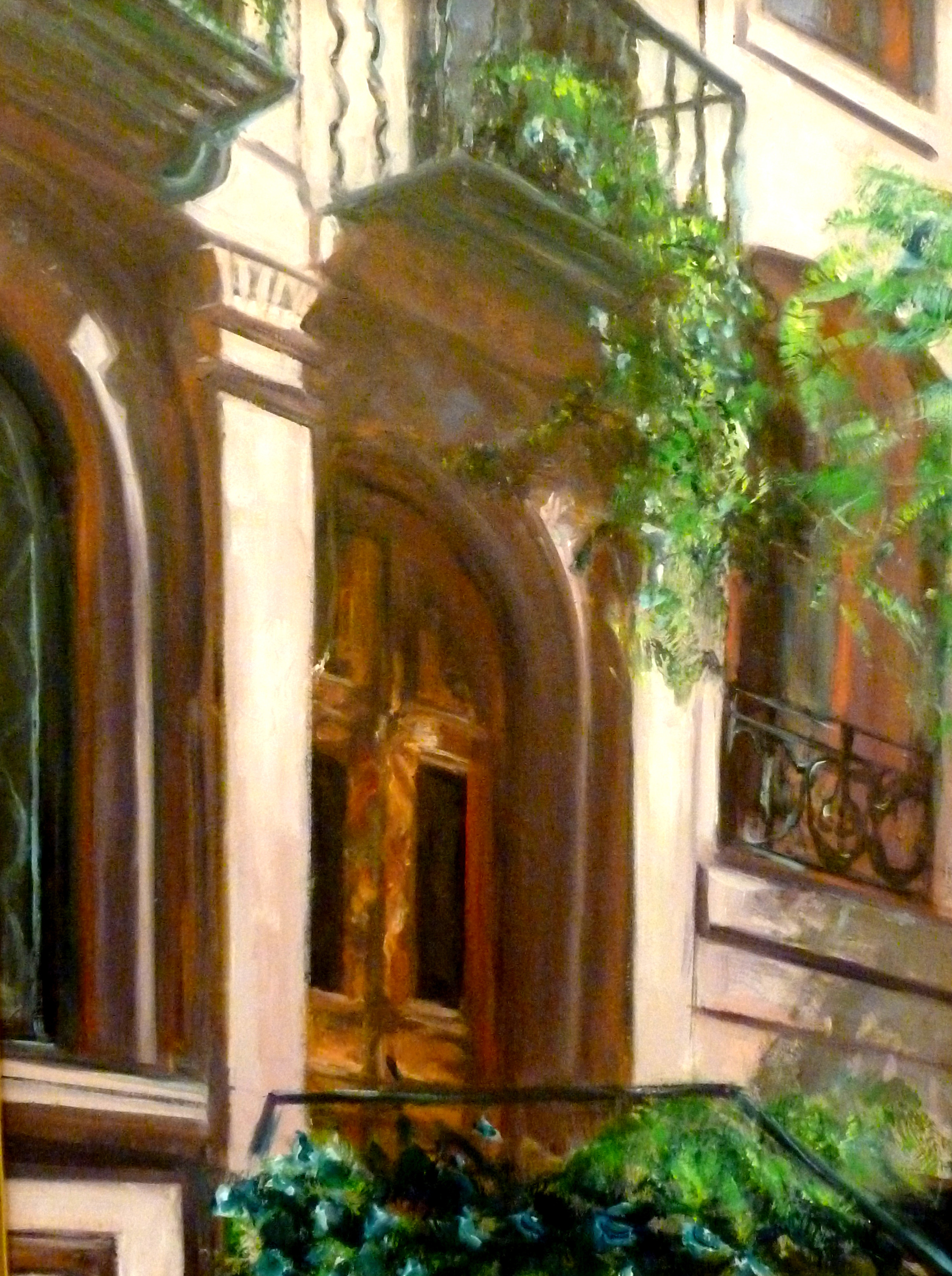 Murray Hill Facade  Oil paint on canvas board 12x18""