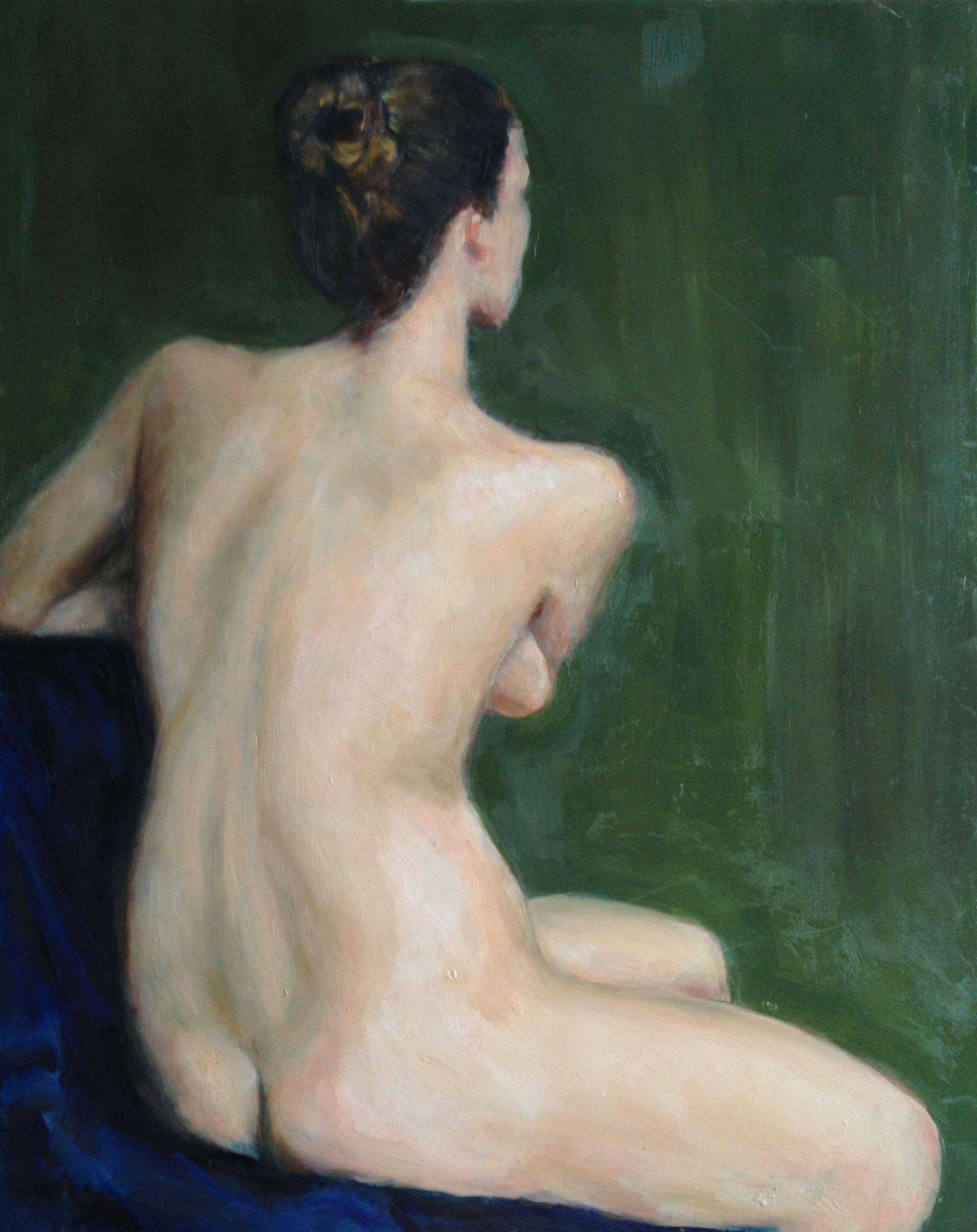 "Sarah  Oil paint on masonite board 16x20"""