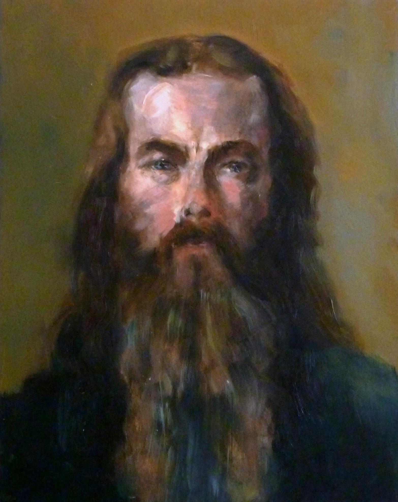 """Solomon   Oil paint on canvas board 12x16"""""""