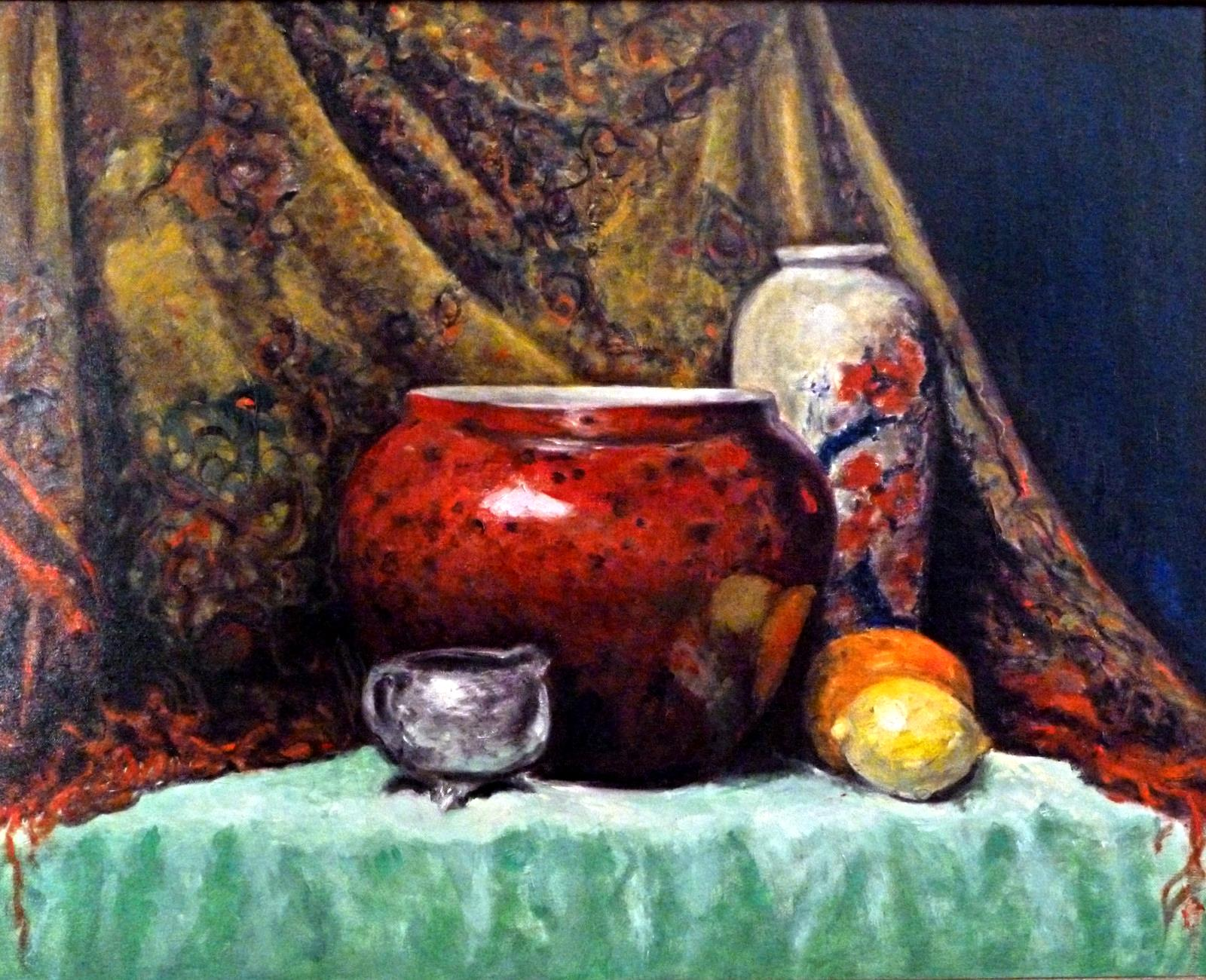 Red Vase    Oil on Masonite  28x32""