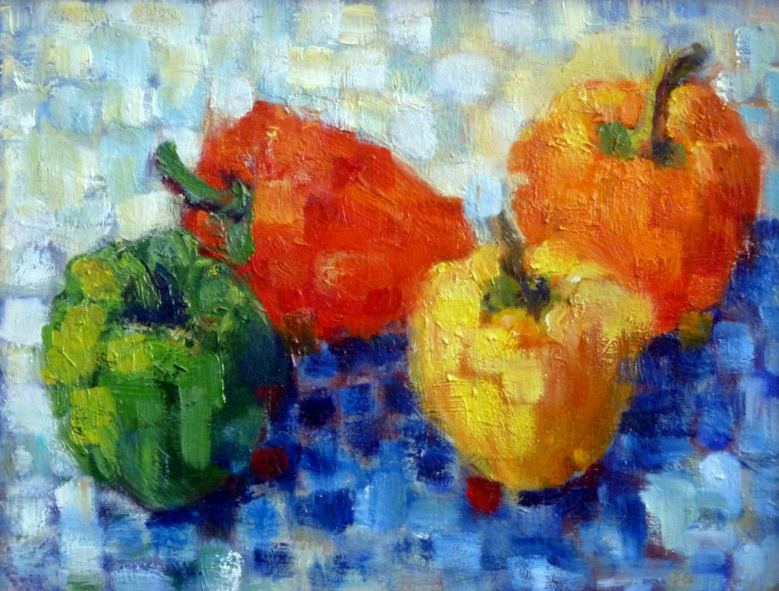 Peppers Bonnard     Oil Paint on masonite   9x12""