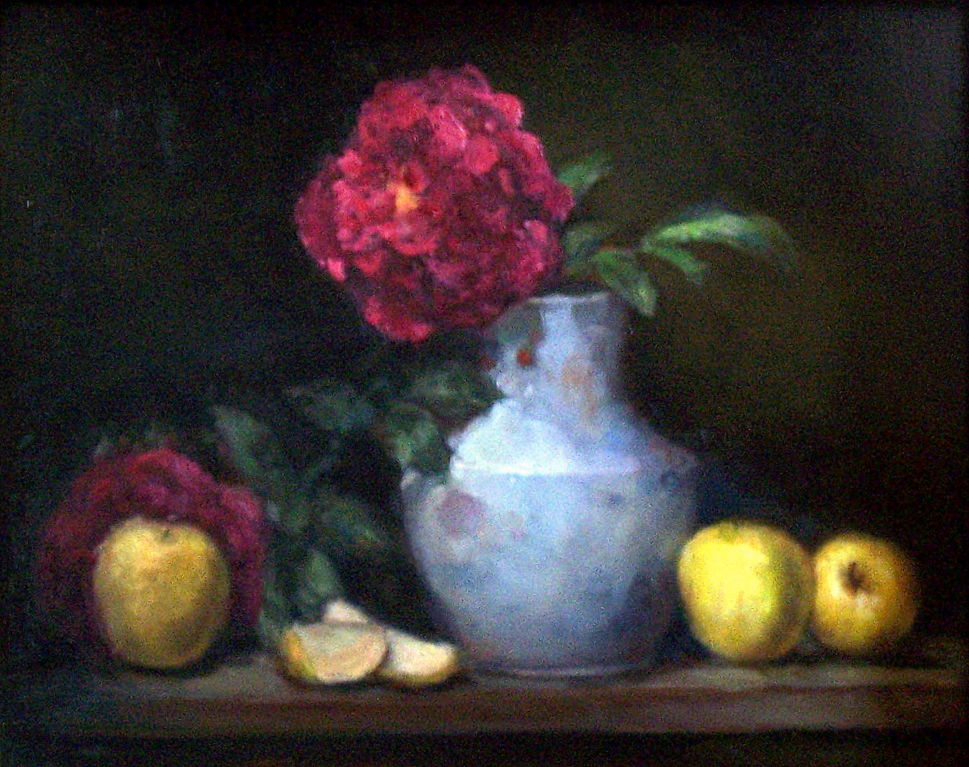 Pink Peonies  Oil on Masonite  18 x 24""