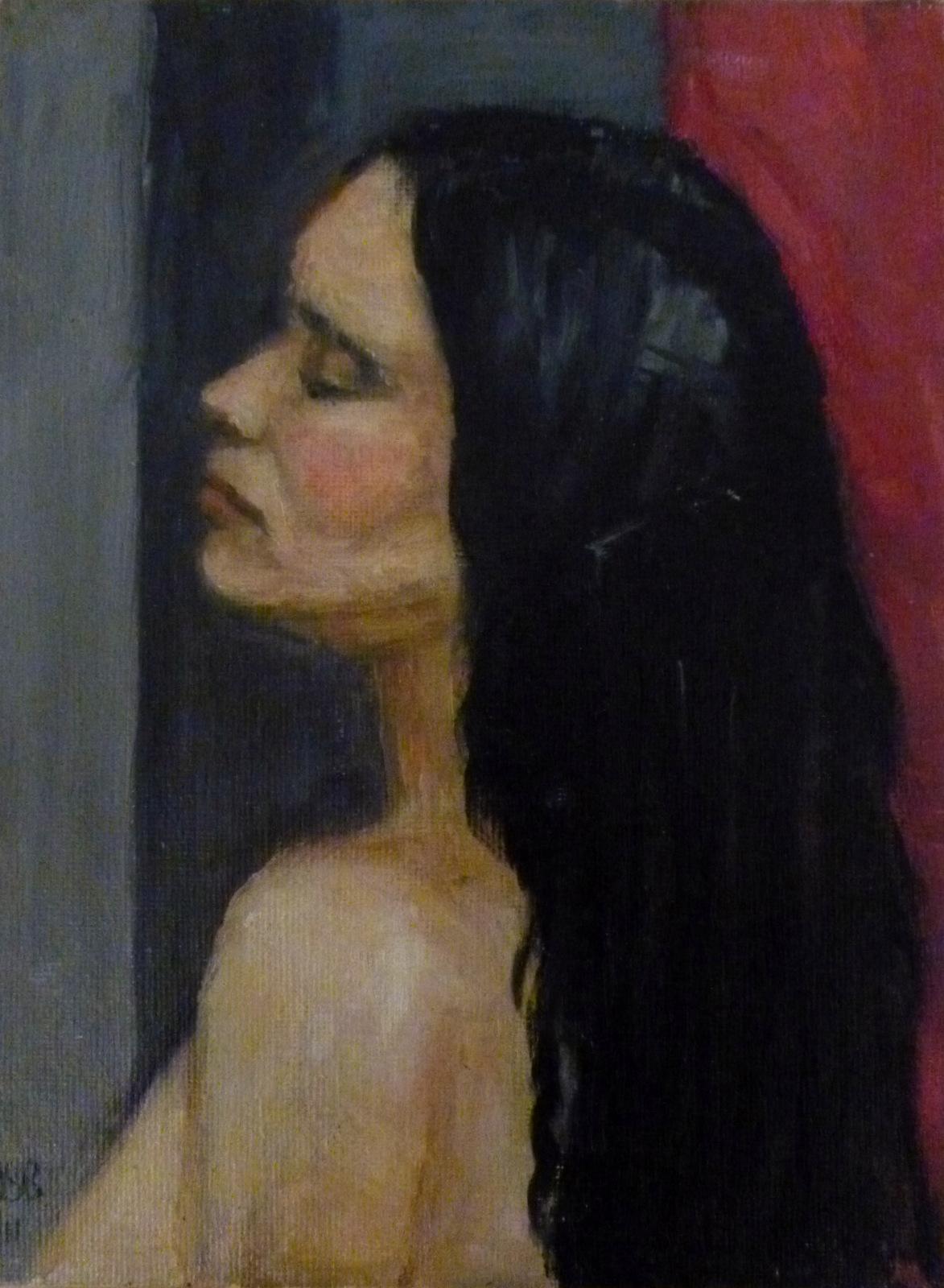 "Romona   Oil on Canvas  6x8"""