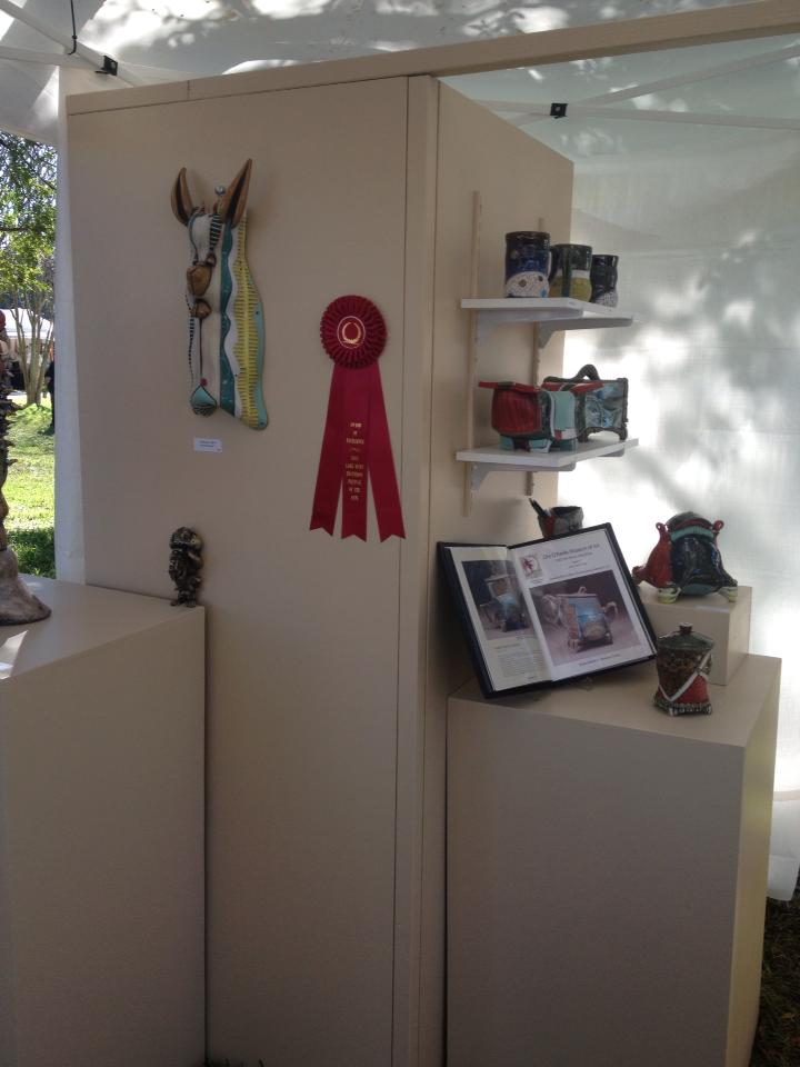"I just hung my ""Award of Excellence"" at the Lake Mary Heathrow Festival of the Arts."