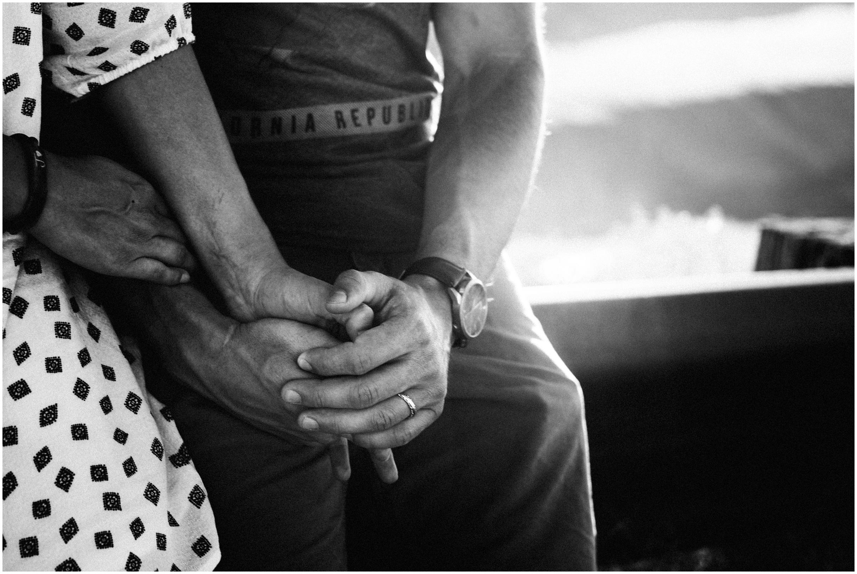 boise idaho engagement couples photographer black and white love desert sunset session holding hands