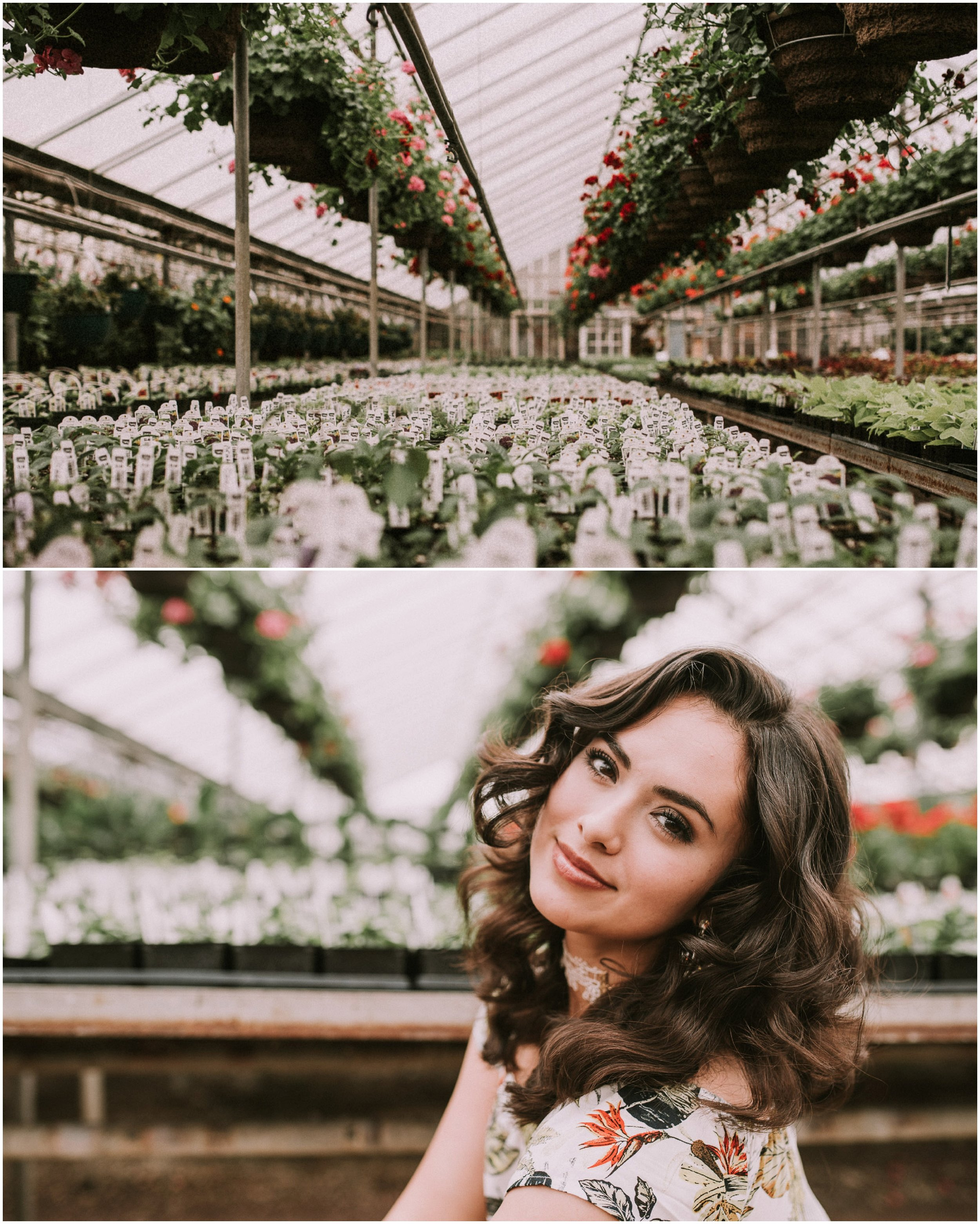 Boise senior photographer succulents Edwards Greenhouse Boise Idaho spring senior pictures