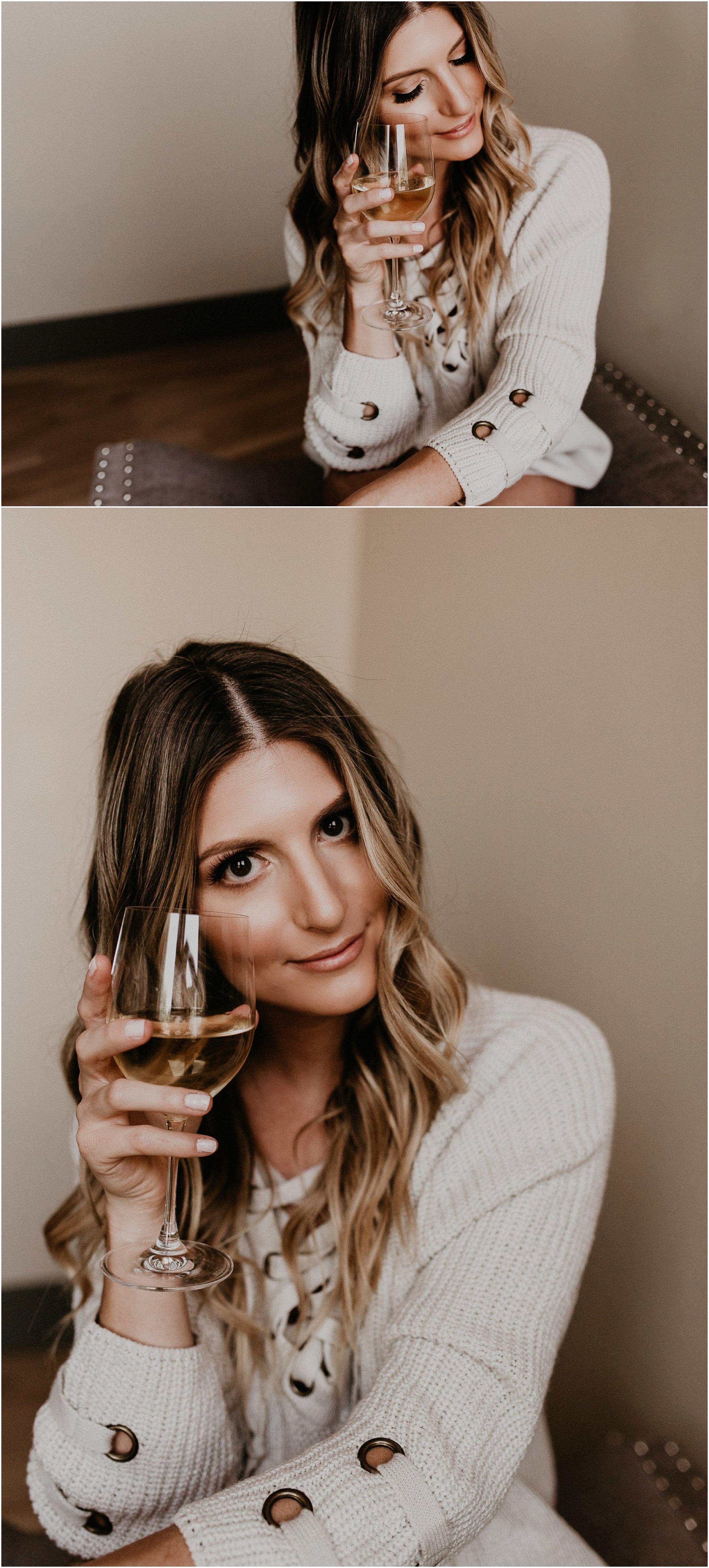 Boise Boudoir Photographer Makayla Madden Photography Award Winning Idaho Photographer Boudoir By Kayla Meridian Boudoir Lifestyle Boudoir Wine Lover Cozy Sweater Boudoir Ideas