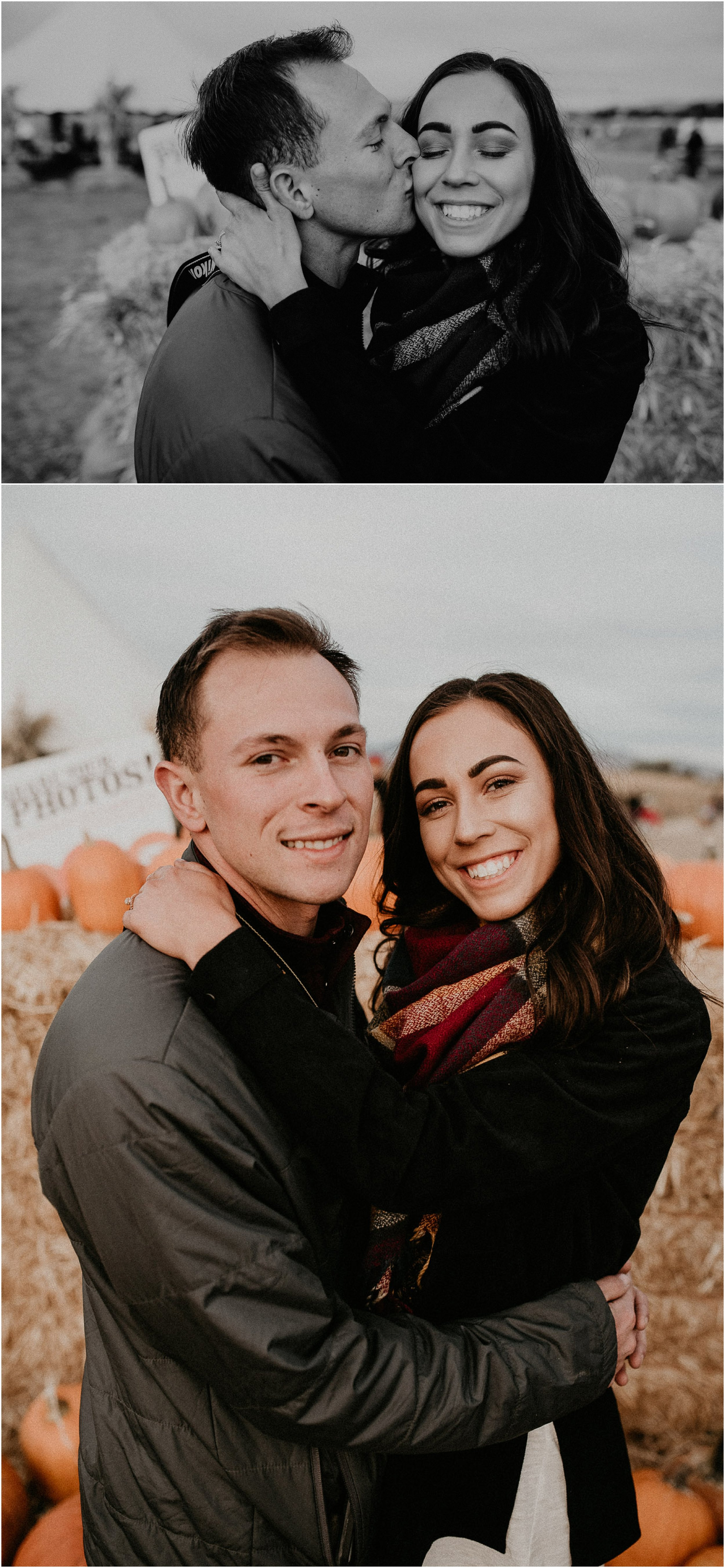 Boise Senior Boudoir Wedding Photographer Makayla Madden Photography Idaho Farmstead Corn Maze Fall Portrait Outfit Ideas Inspiration Plaid Scarf Pumpkin Patch Couples Engagement Session