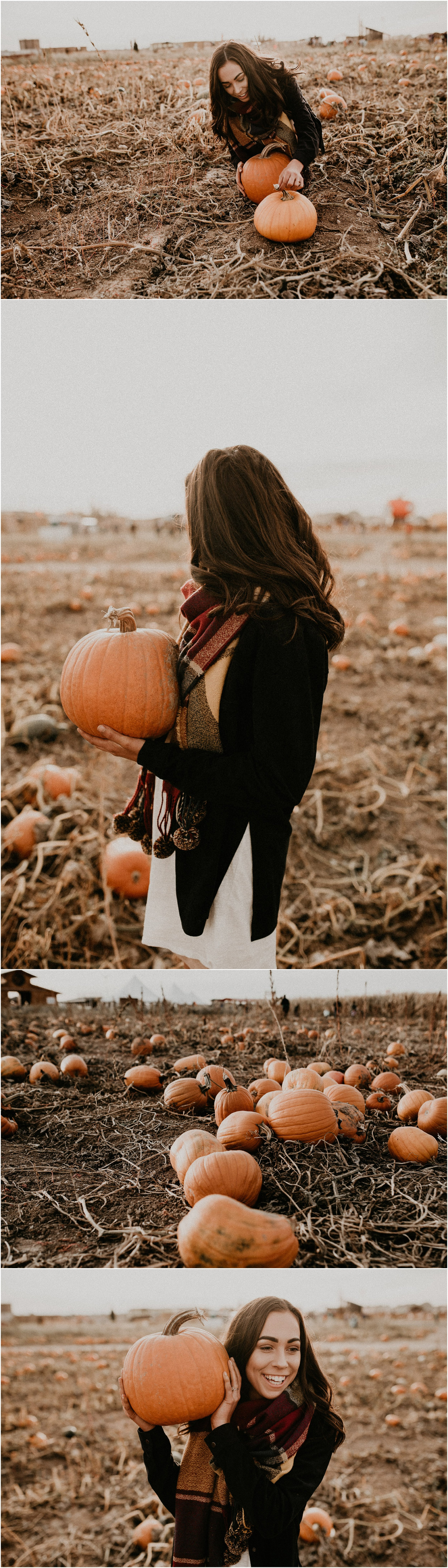 Boise Senior Boudoir Wedding Photographer Makayla Madden Photography Idaho Farmstead Corn Maze Fall Portrait Outfit Ideas Inspiration Plaid Scarf Pumpkin Patch Meridian