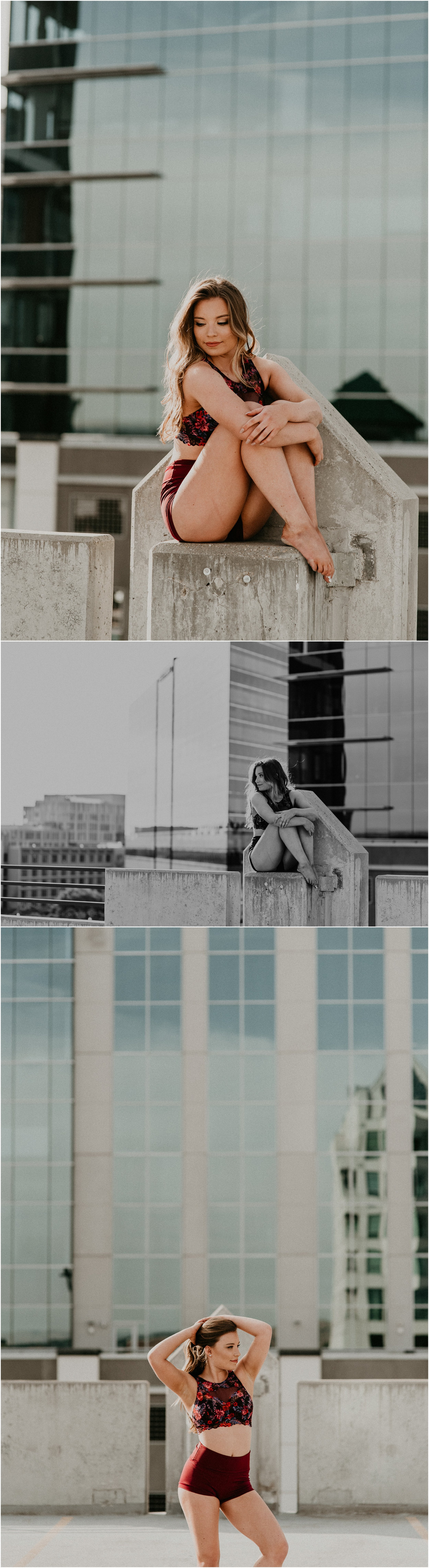 Makayla Madden Photography Boise Senior Photographer Senior Pictures Downtown Boise Mountain View Dancing Dance Inspiration Rooftop