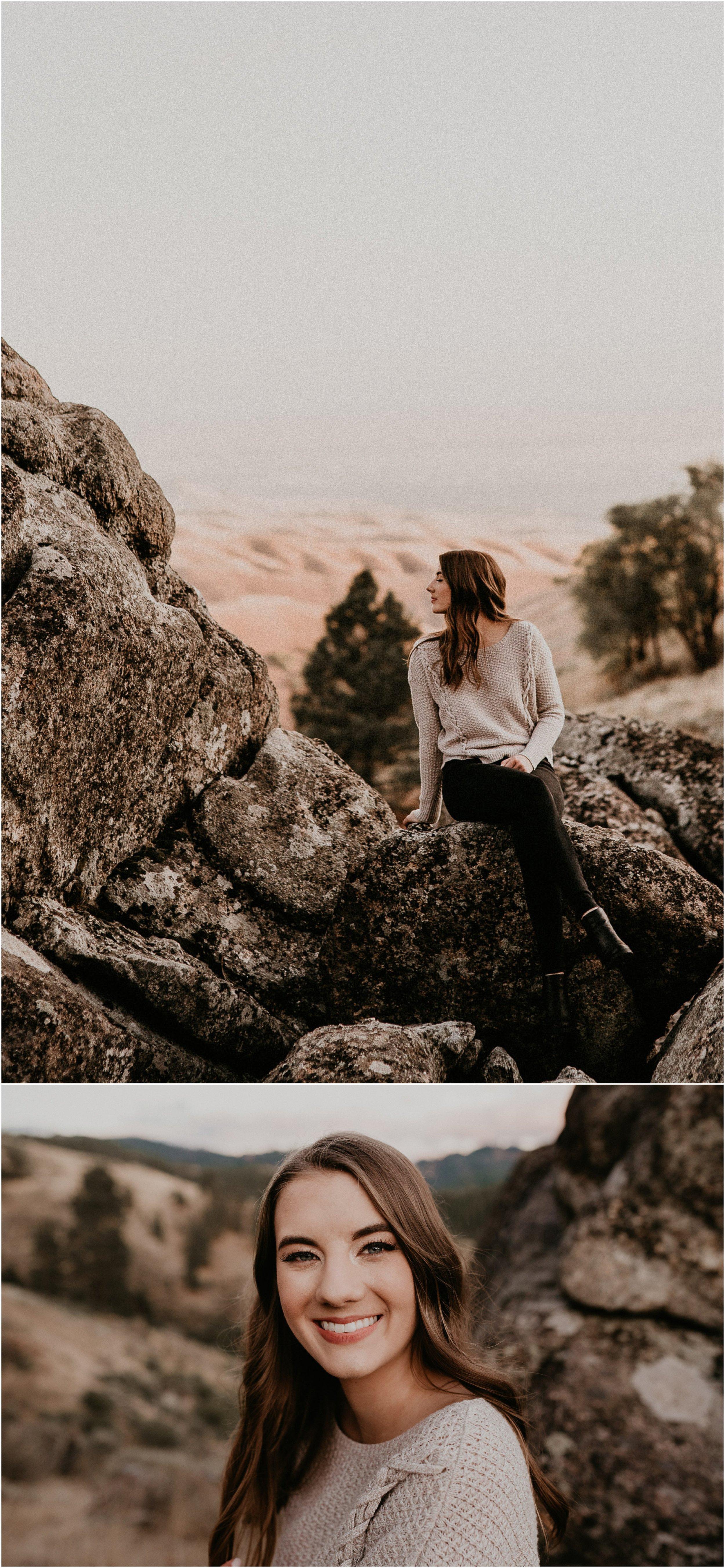 Boise Senior Photographer Makayla Madden Photography Bogus Basin Senior Girl Boise Mountains Adventure Sunset
