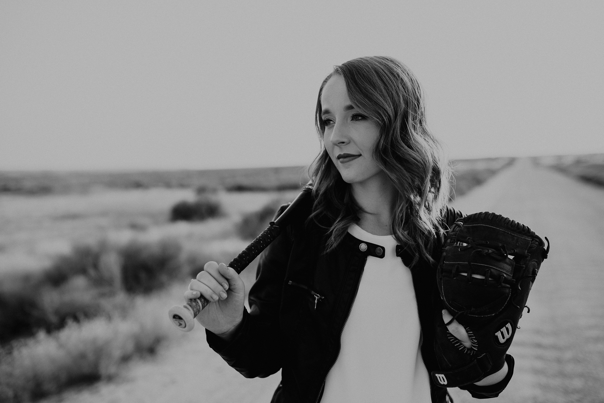 Makayla Madden Photography Boise Senior Photographer Meridian Eagle Idaho Foothills Summer Softball Raw Real Black White Meridian Senior Pictures