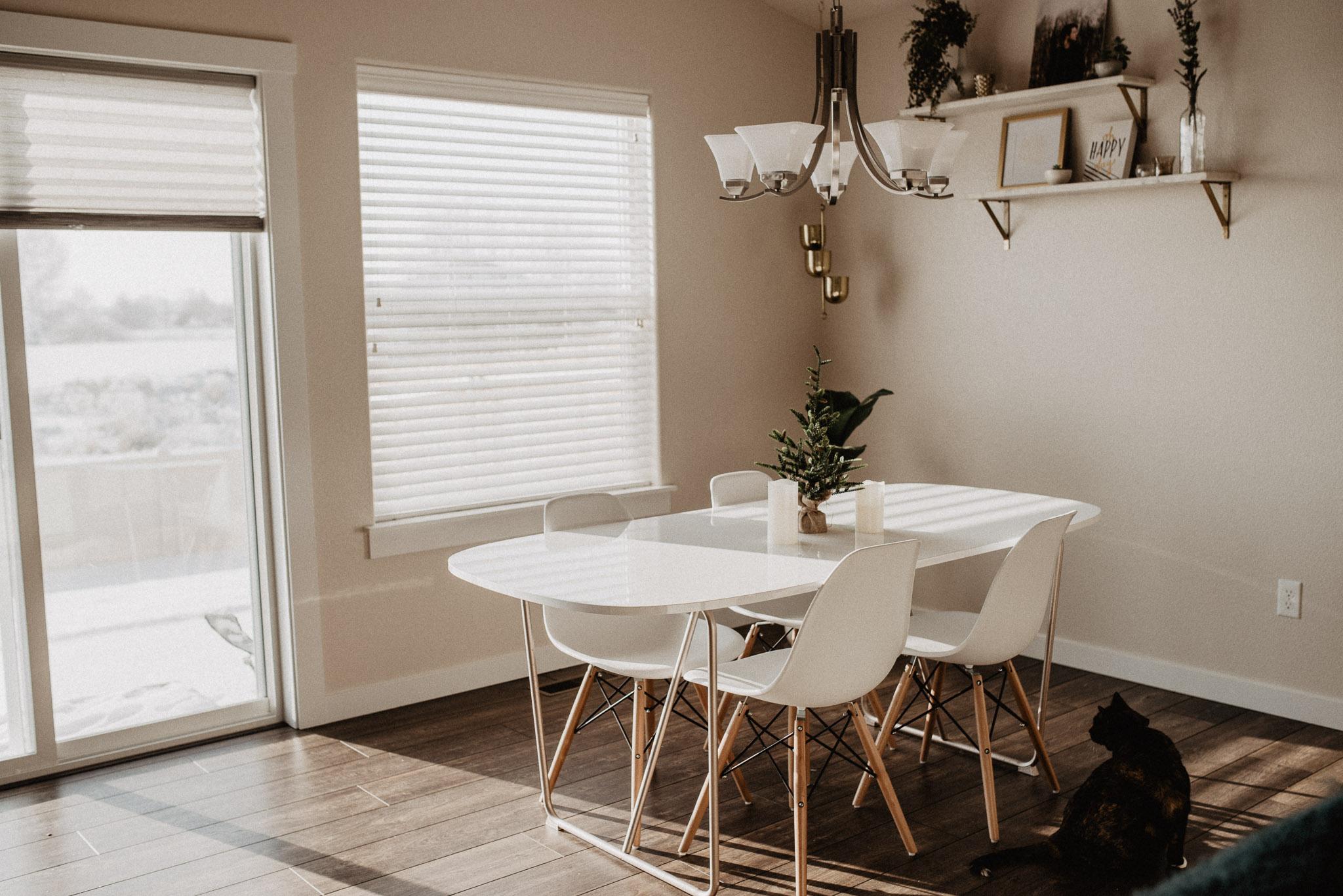 Boise Boudoir Photographer Boise Senior Photographer Makayla Madden Photography Mid Century Modern Kitchen Table Chairs Decor
