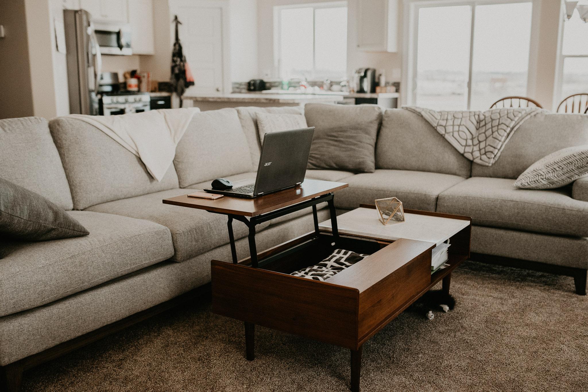 Boise Boudoir Photographer Boise Senior Photographer Makayla Madden Photography Mid Century Modern Living Room Decor Ideas Target West Elm Coffee Table