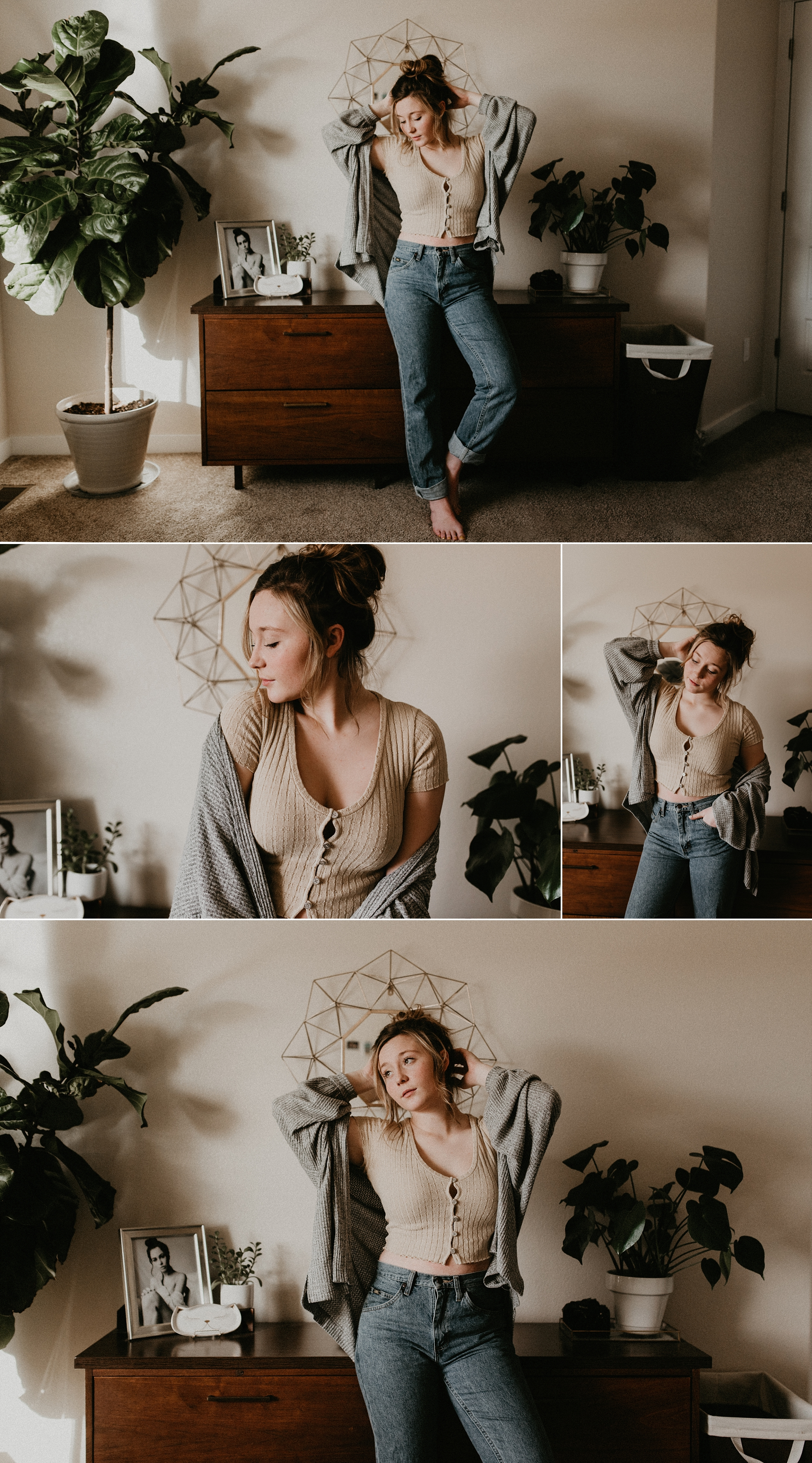 Boise Boudoir Photographer Boudoir By Kayla Makayla Madden Photography Idaho Lifestyle Boudoir Urban Outfitters Boise Senior Photographer Vinyls Records Mid Century modern UO on you