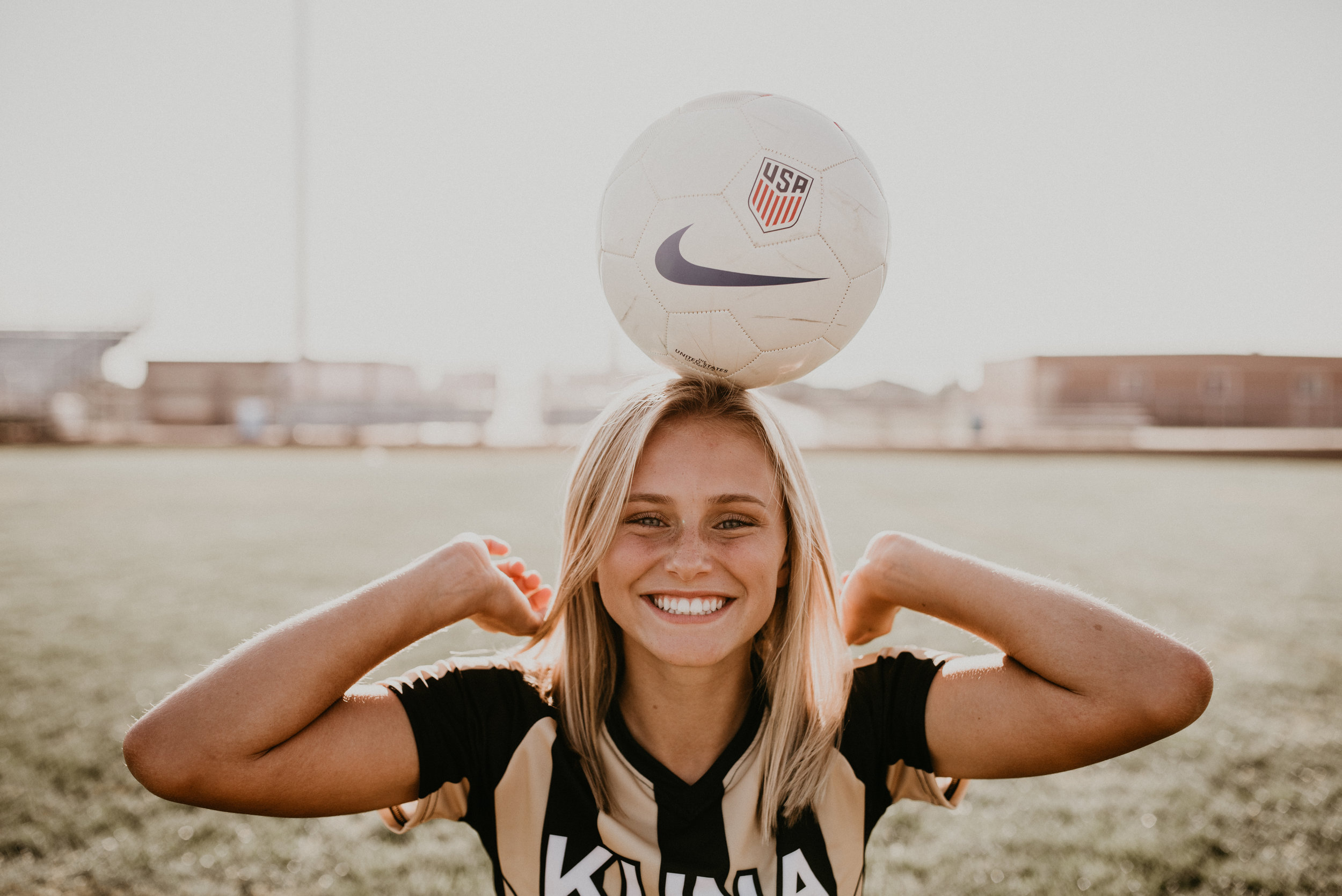 Boise senior photographer kuna high school soccer class of 2018 brooke ray senior pictures summer sports fun laughter