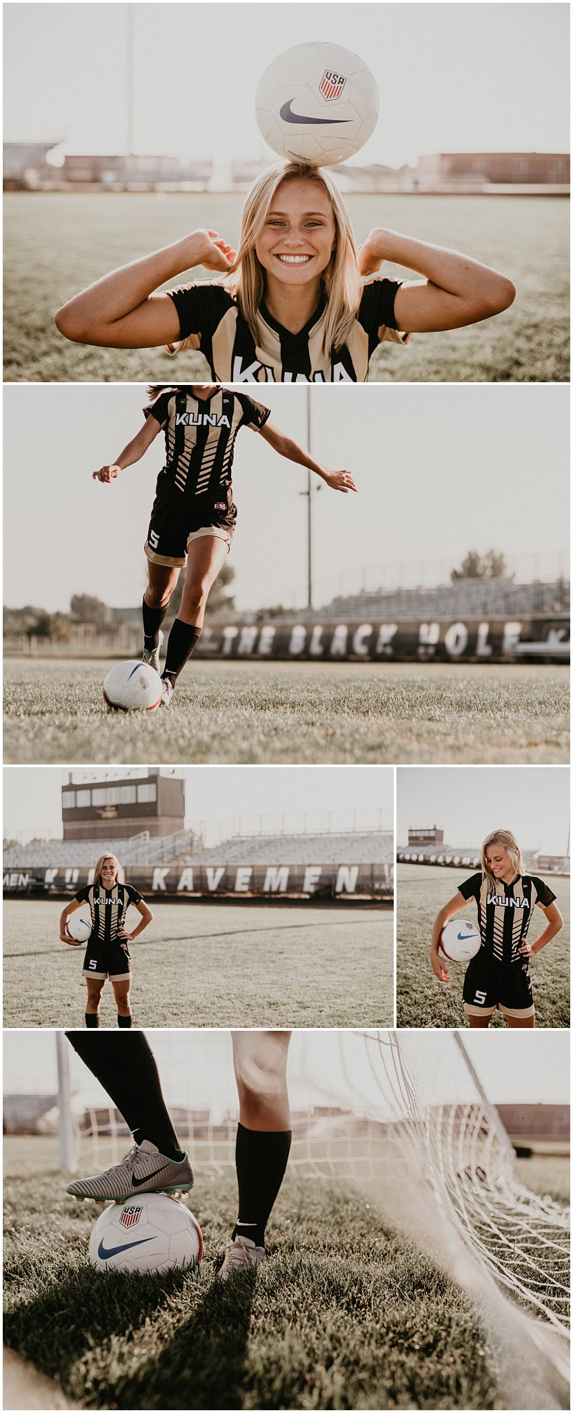 Boise senior photographer kuna high school soccer class of 2018 brooke ray senior pictures summer sports fun laughter Kuna Brooke Ray