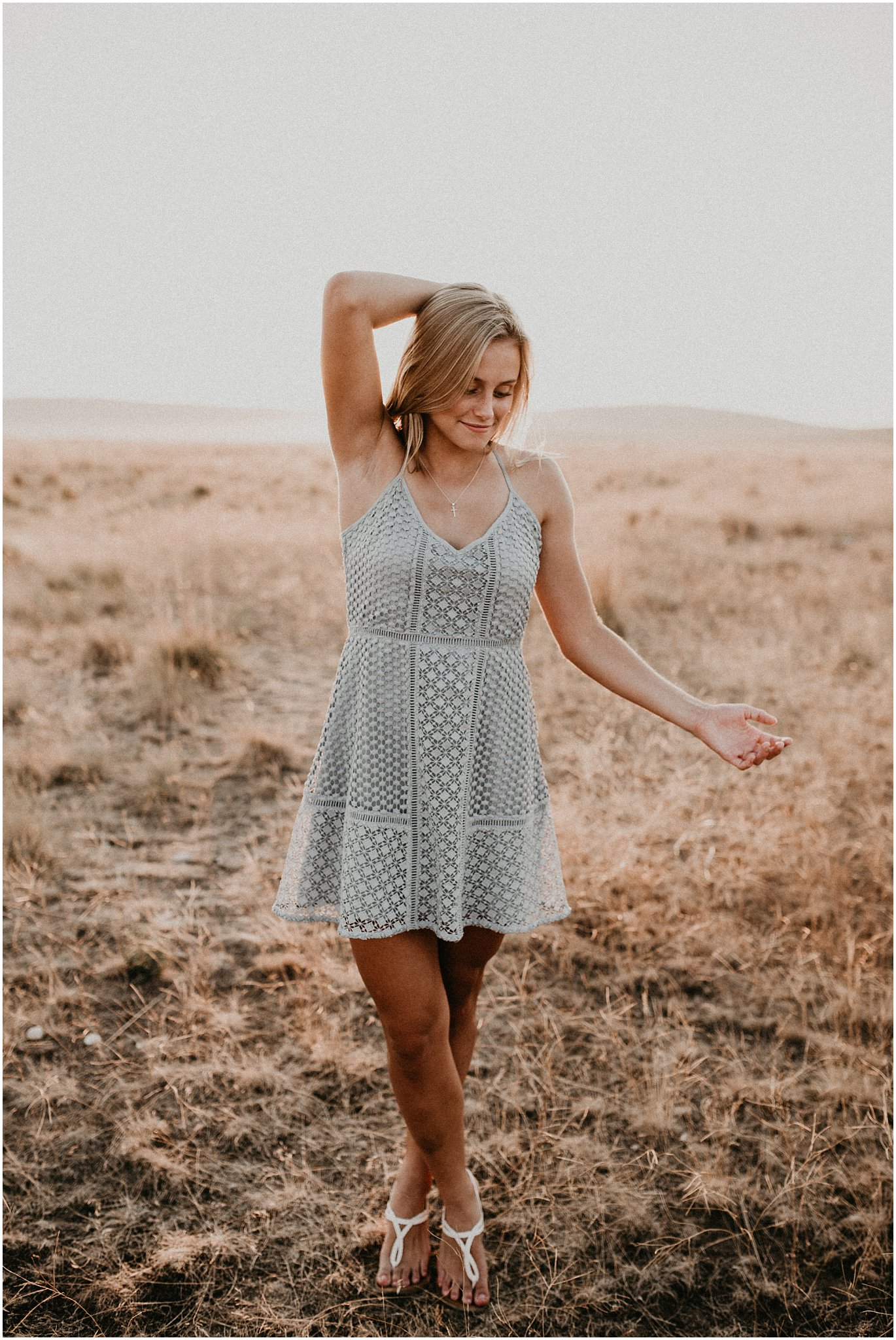 Boise Senior Photographer Makayla Madden Photography Unique Fun Kuna Idaho Foothills Desert Summer Senior Session Golden Hour Posing Idaho Beauty Dance