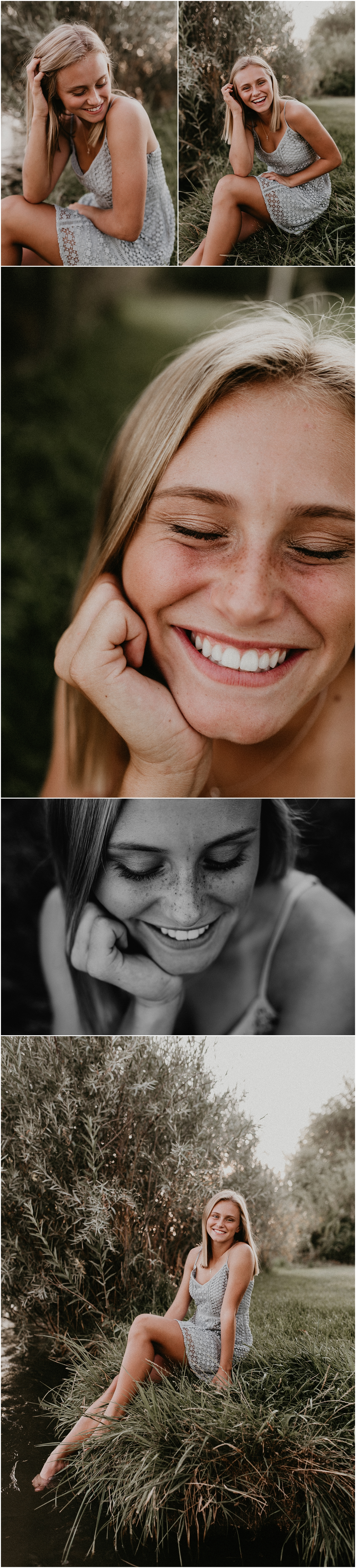 Boise Senior Photographer Makayla Madden Photography Kuna River Summer Senior Pictures Dress Outfit Ideas Beautiful Class of 2018 Freckles Laughter Idaho Photographer