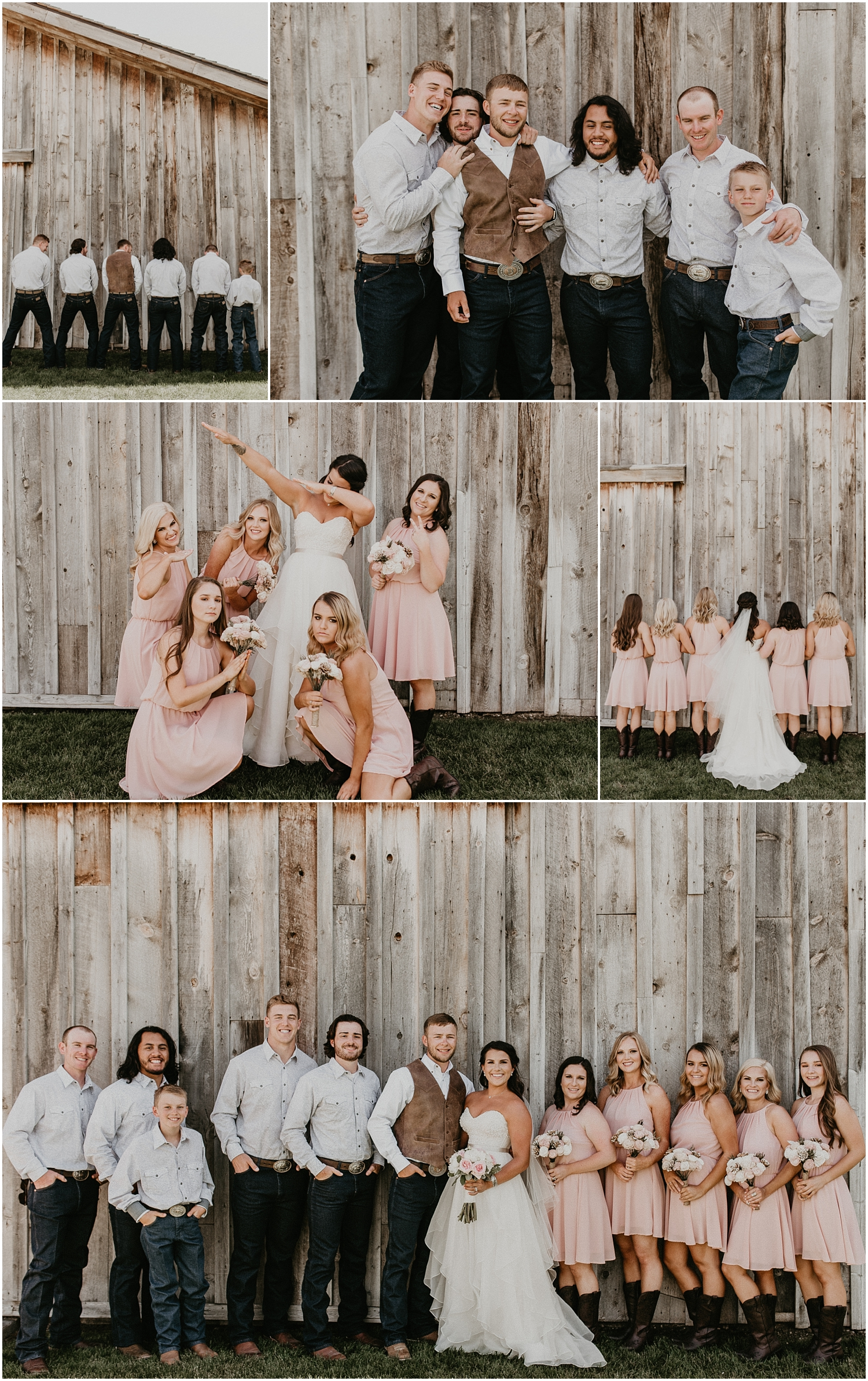 Boise Wedding Photographer Makayla Madden Photography Idaho Bride Boise Country Chic Wedding Still Water Hollow Boise Wedding Venue Boots Rustic Wedding inpsiration Bridal Party