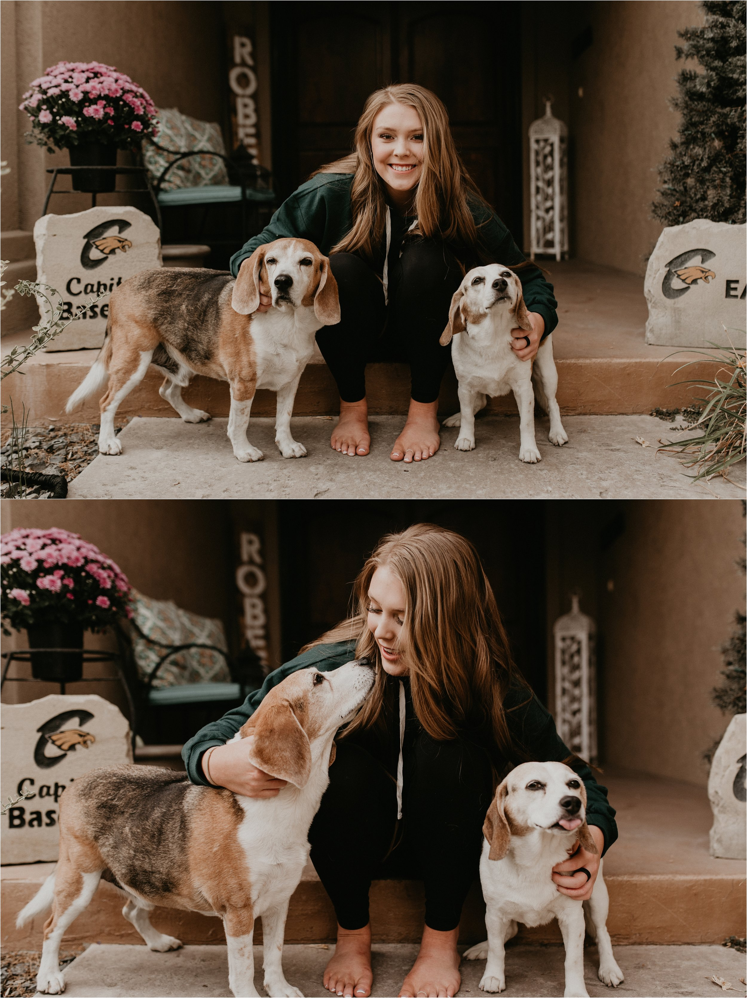 Boise Senior Photographers Makayla Madden Photography Idaho Senior Photographer Senior Girl Dogs Beagles Senior Pictures