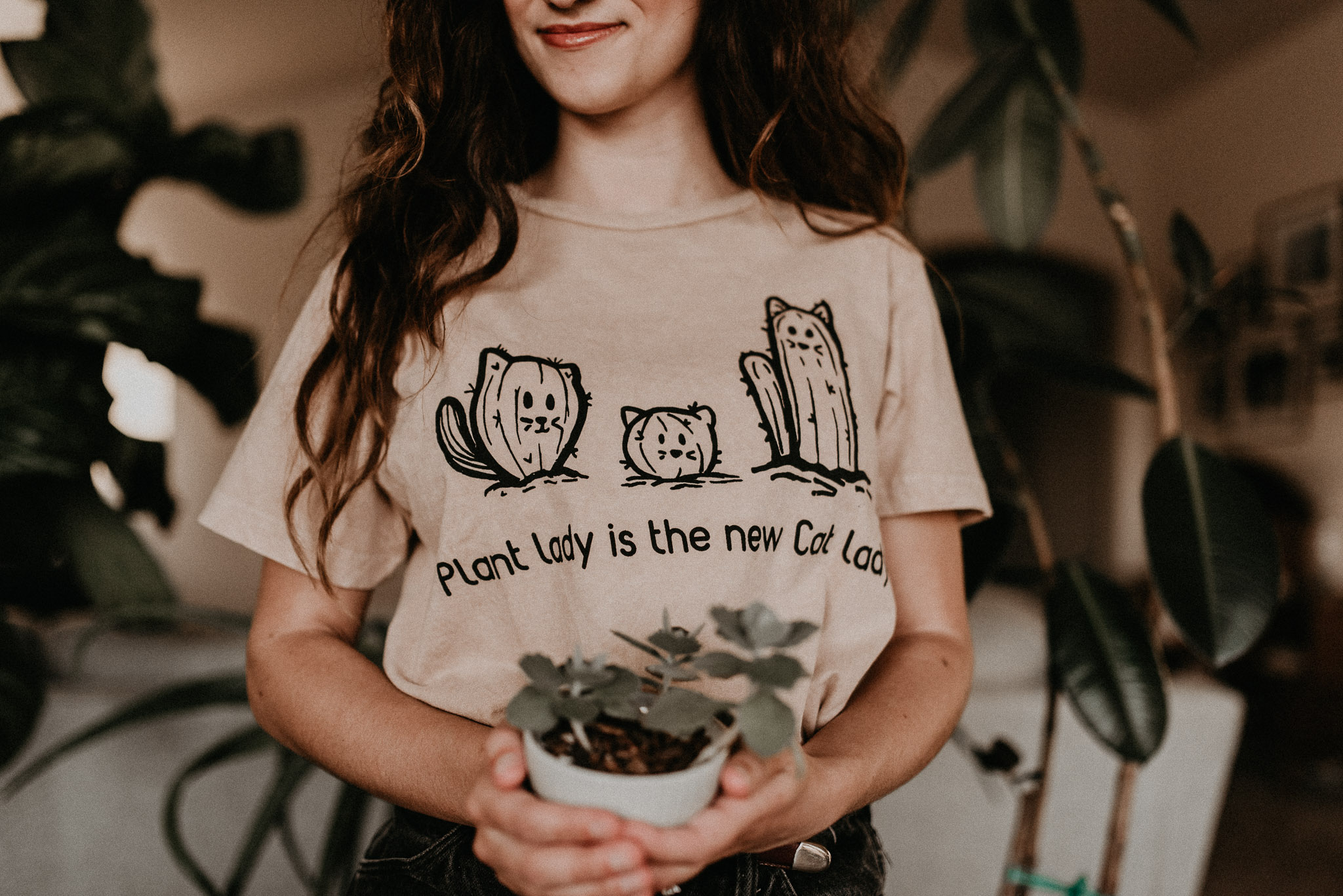 Plant Lady is New Cat Lady T Shirt Succulent Care Planting Tips Tricks Als 5-1-1 Mix Boise Senior Photographer Makayla Madden Photography Boise Boudoir Photographer Plant Advice Houseplants