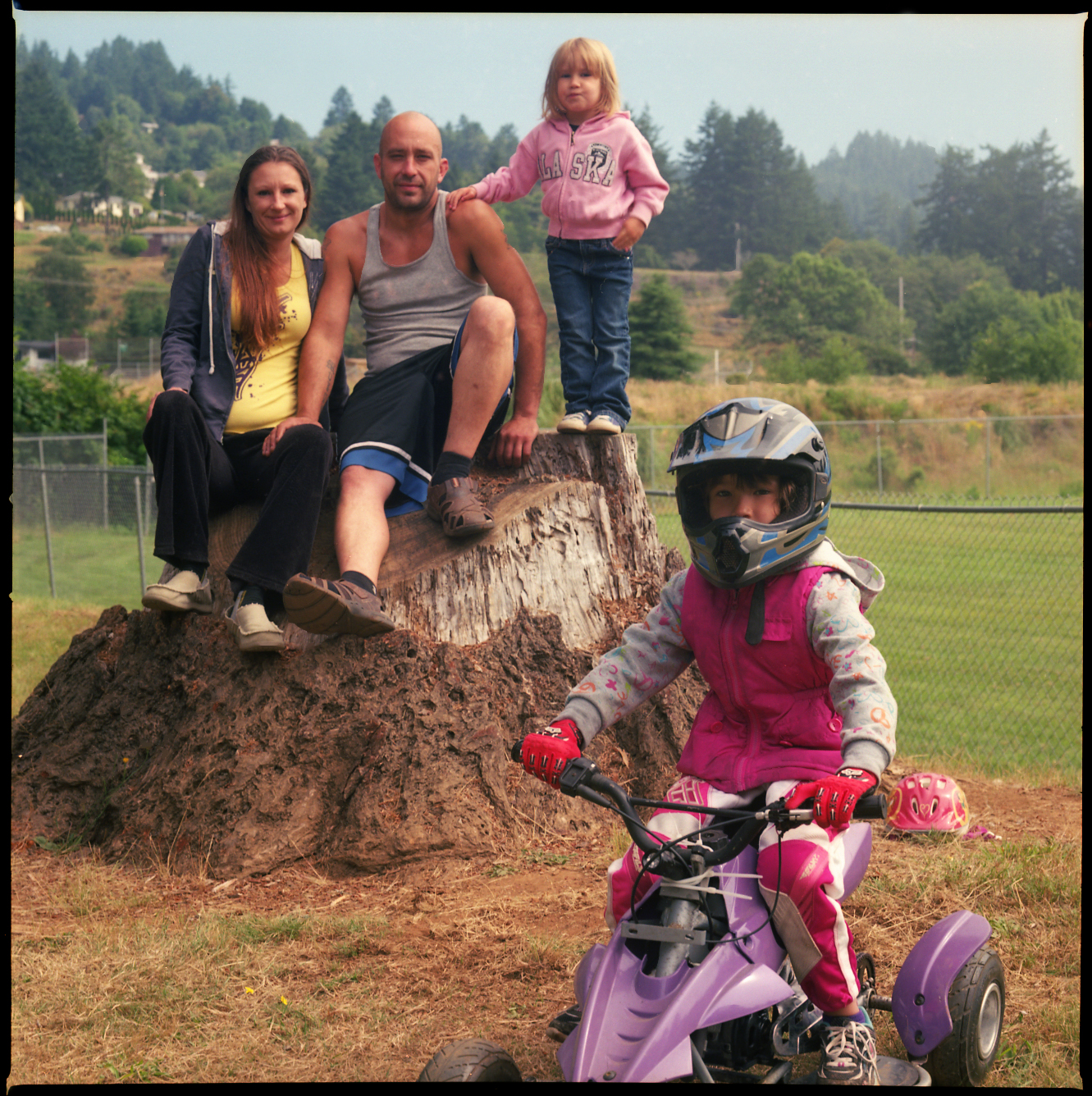 The Davis family at Azalea Park in Brookings, Oregon.  Photo by Jim Hair