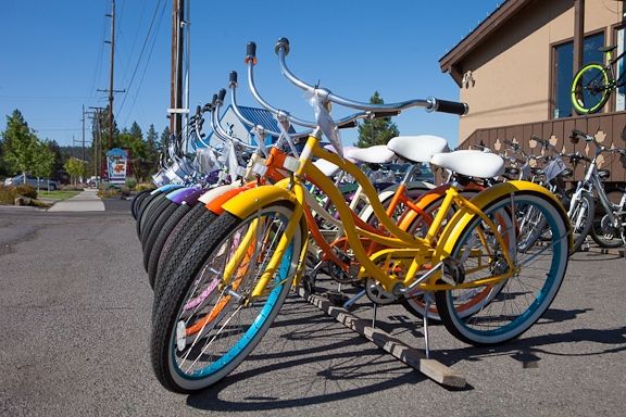 The cool way to bike around Bend.  Photo by Jill Rosell