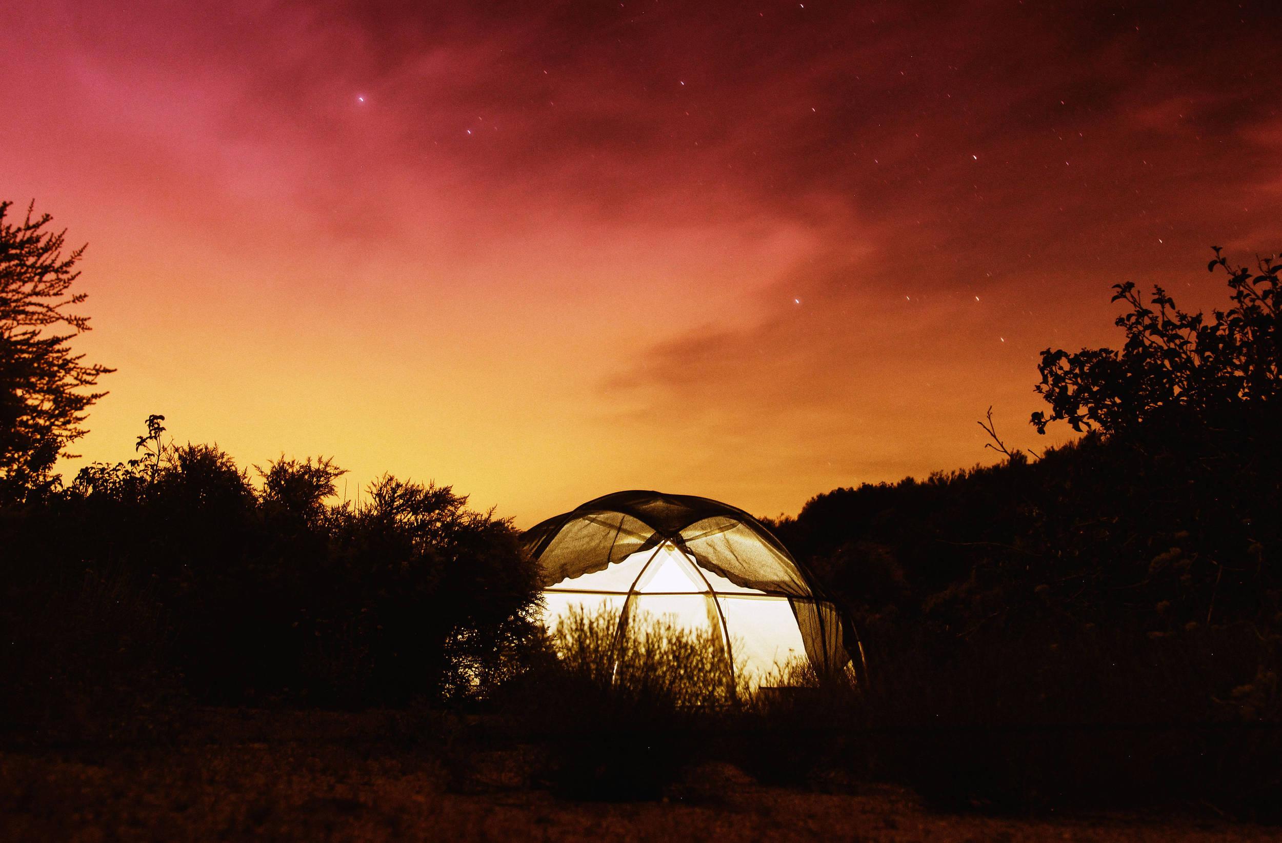 The Dome at night. Photo Josephone Blossfeld