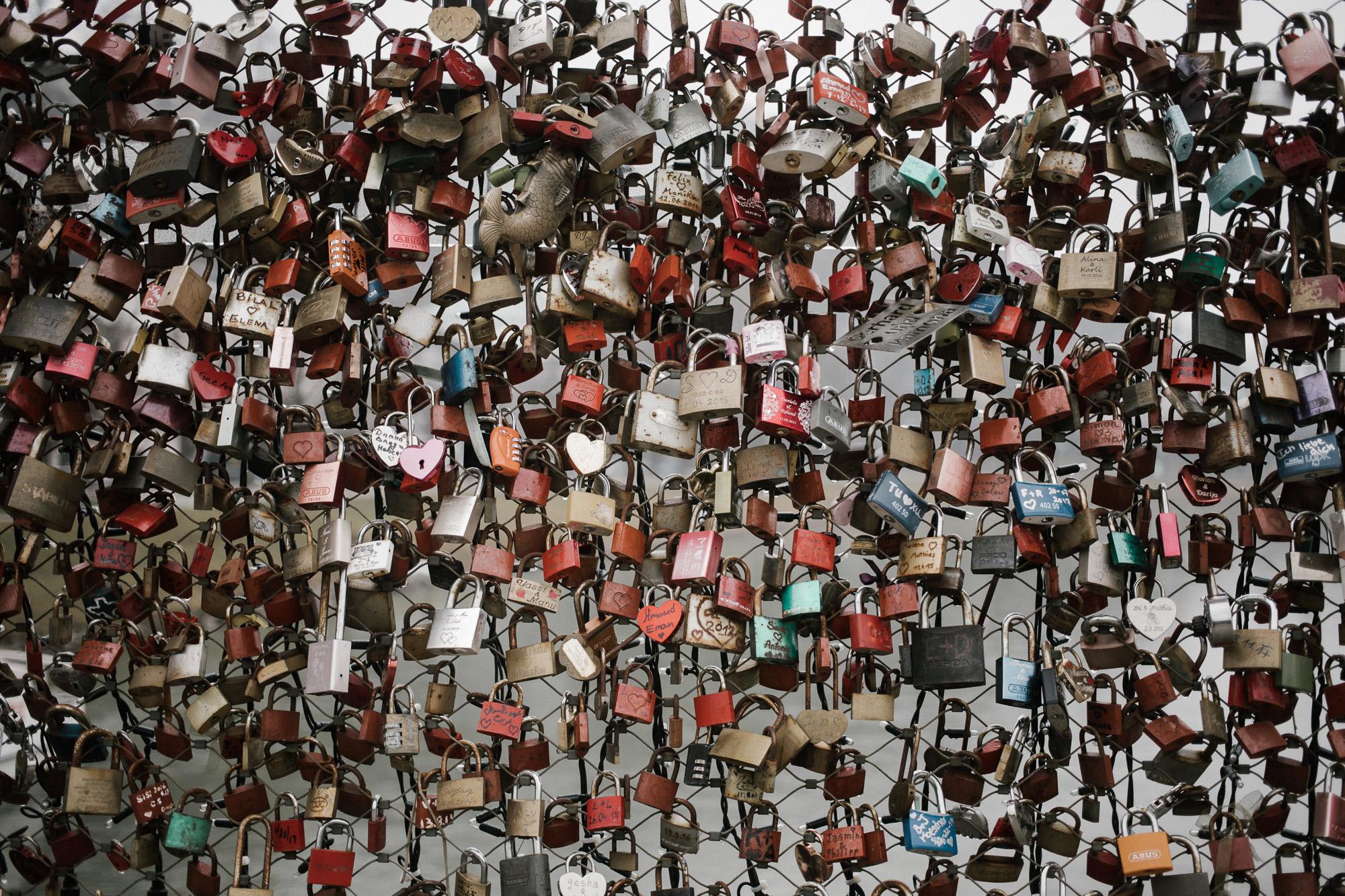 Love Lock Bridge Salzburg, Austria