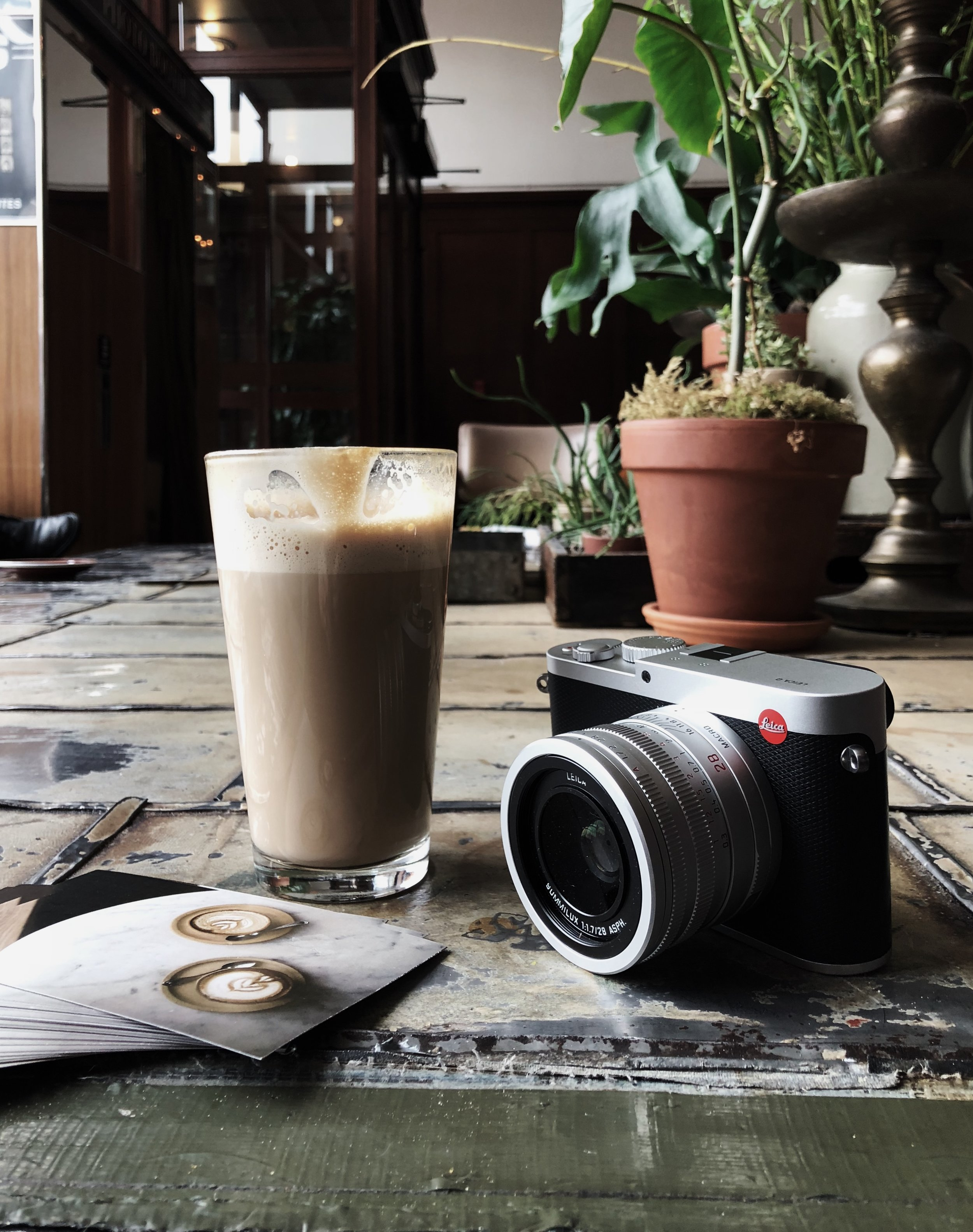 Stumptown latte in the Ace lobby