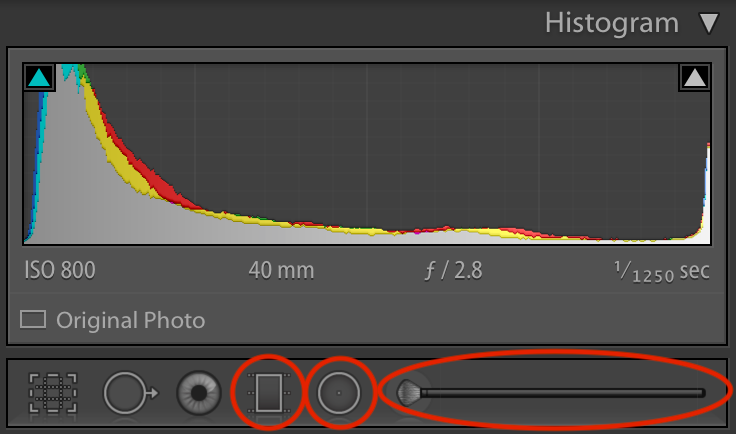 Gradient Filter, Radial Filter, and the Adjustment Brush