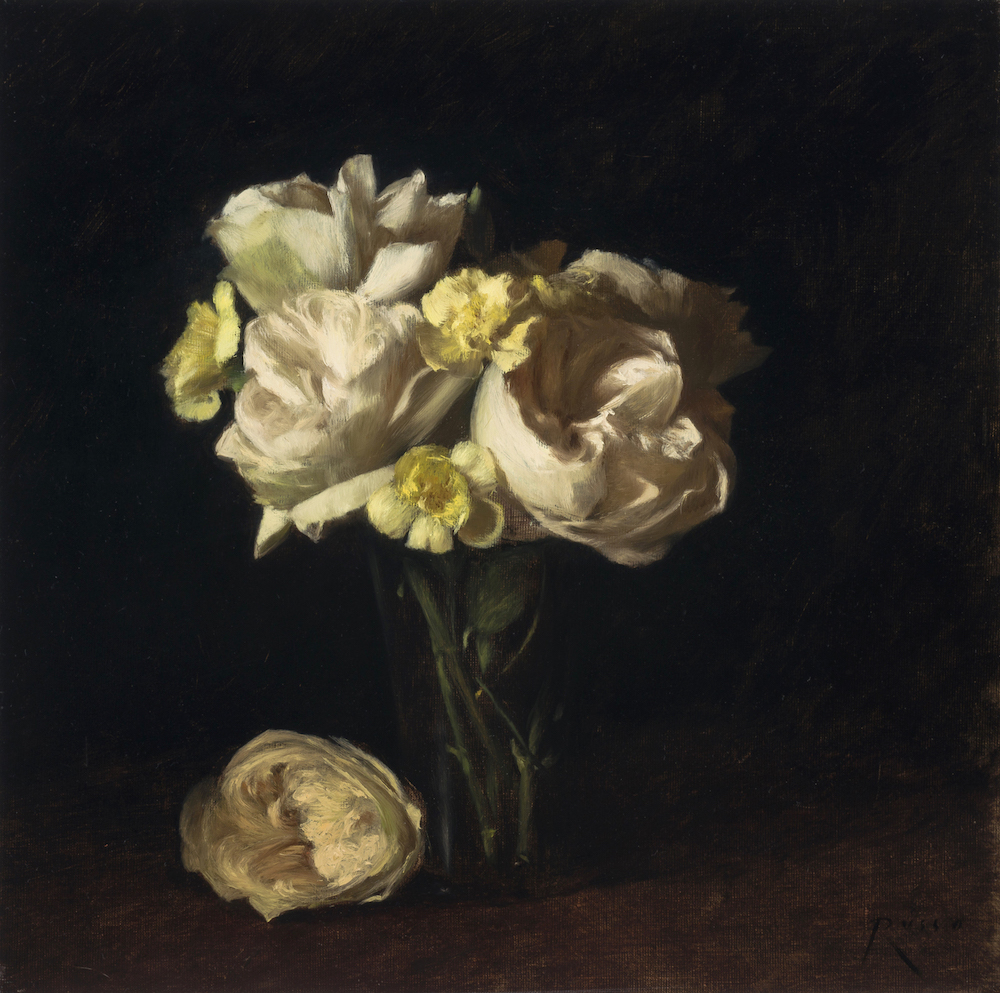 White Roses and Yellow Carnations