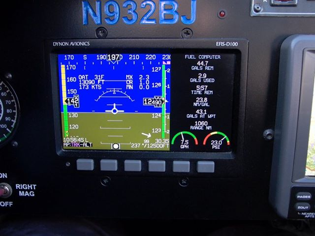 Notice the True Airspeed (173KTS), Fuel Flow (7.5 GPH) the NMPG (23.8)