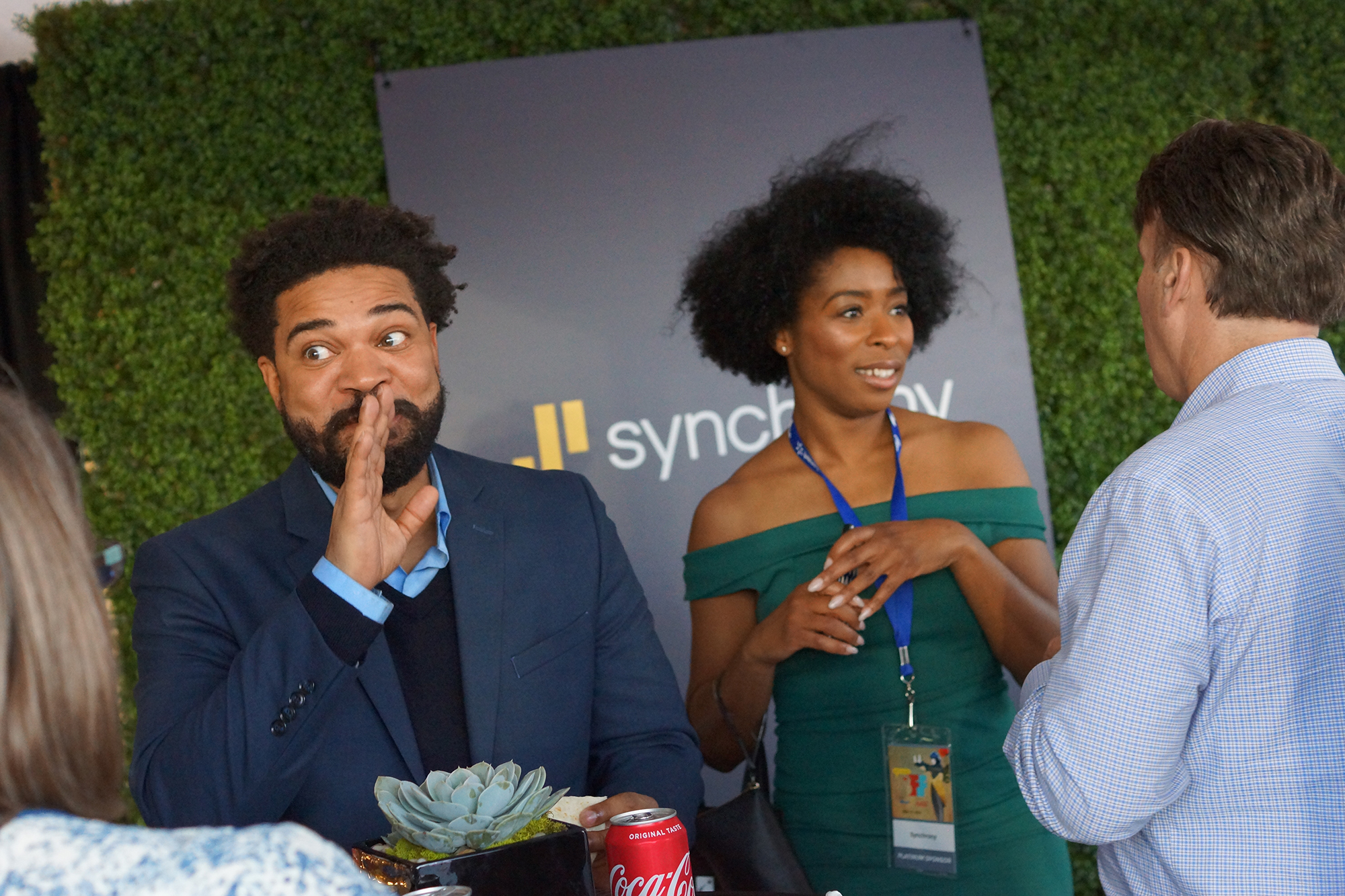 A candid moment used on Synchony's social media for covering BFF 2018.